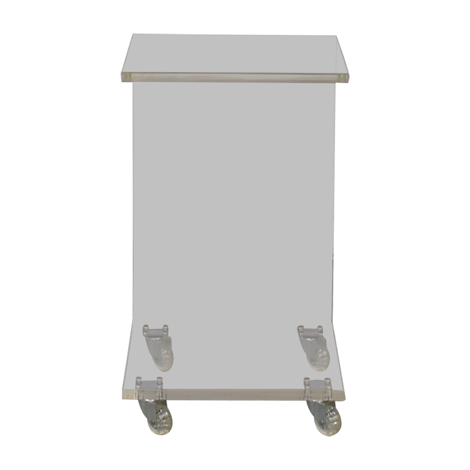 Modern C Shaped Ghost Side Table for sale