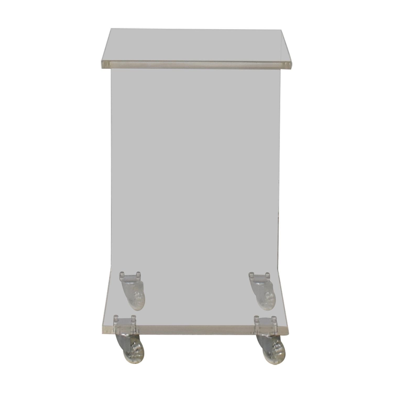 Buy modern c shaped ghost side table online