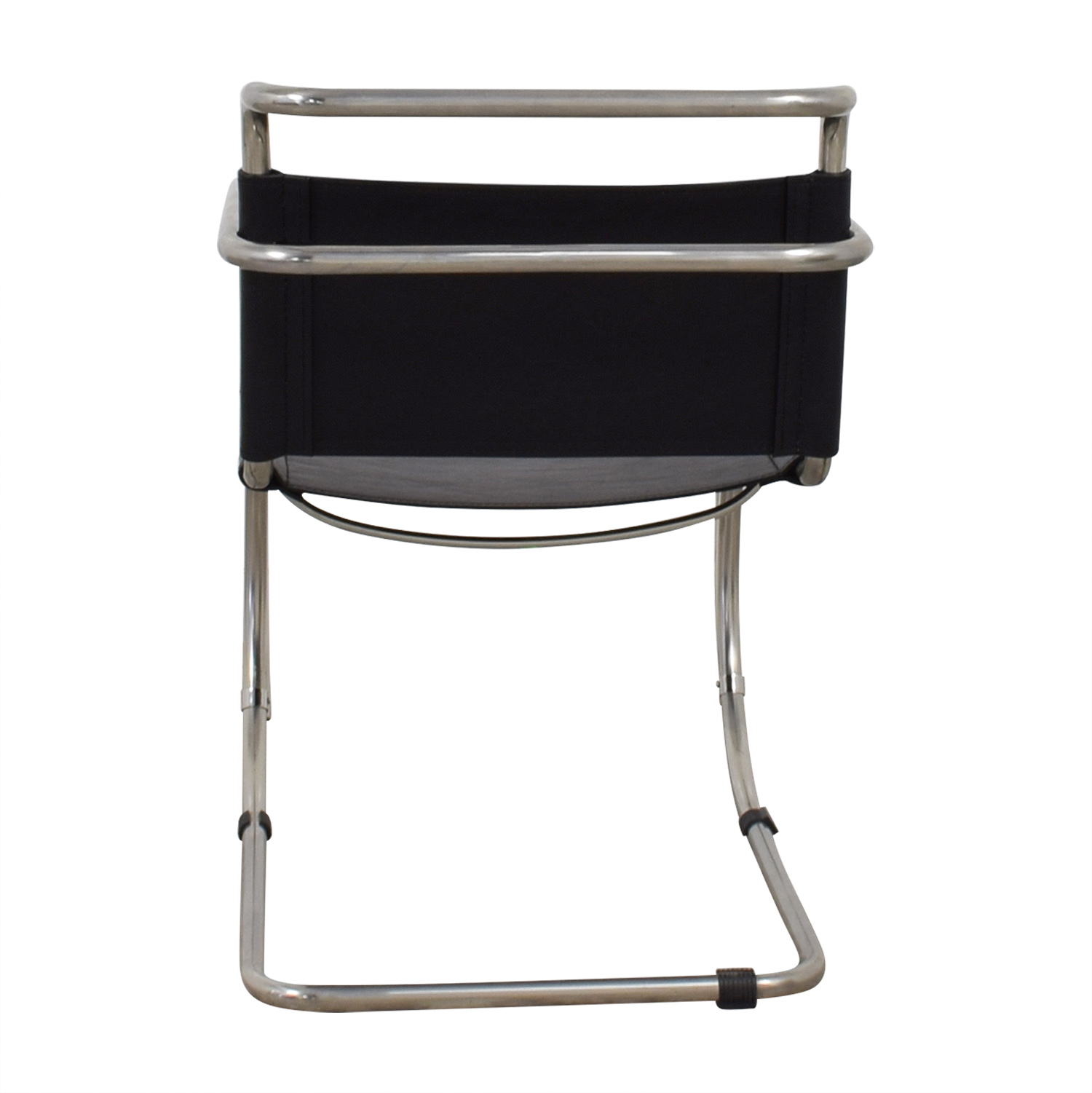 Restoration Hardware Black and Chrome Accent Chair sale