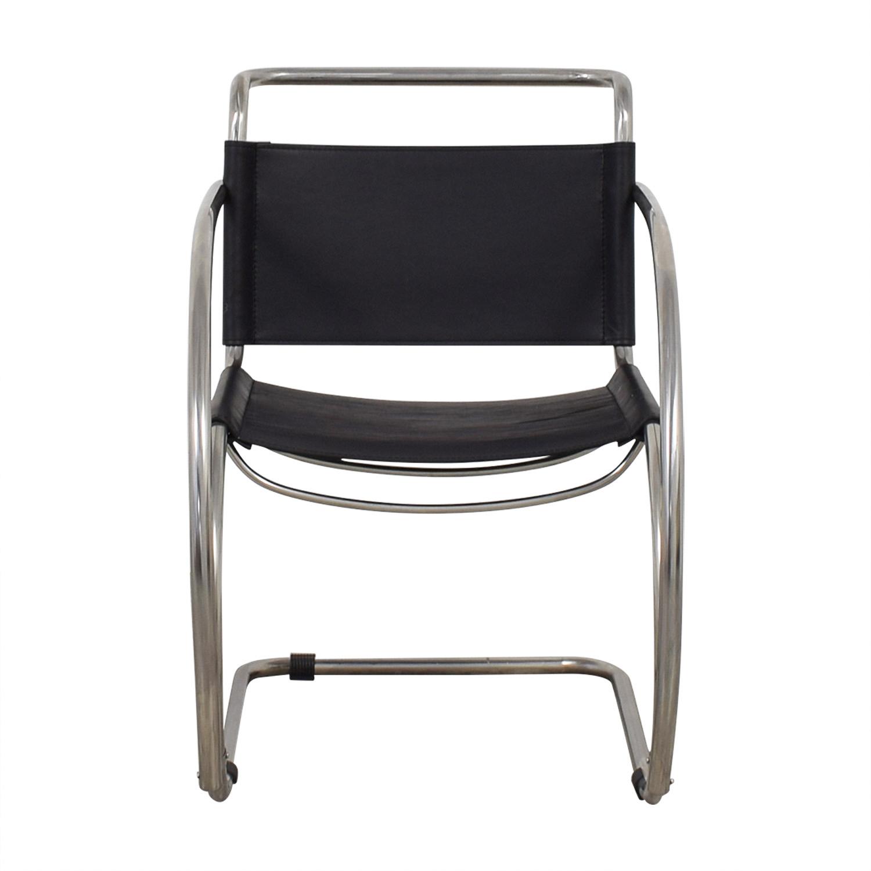shop Restoration Hardware Black and Chrome Accent Chair Restoration Hardware Accent Chairs