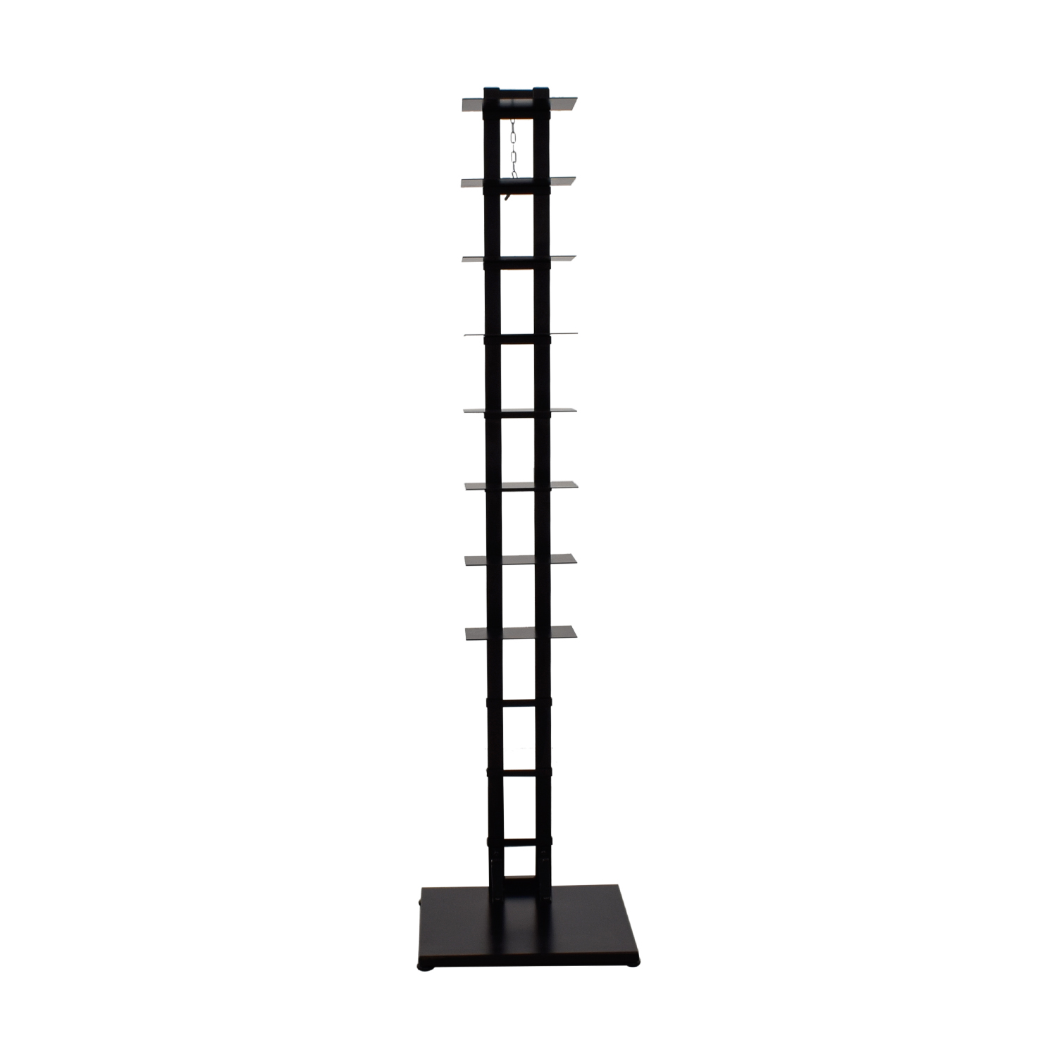 Modern Open Metal Book Shelf Stand BLACK