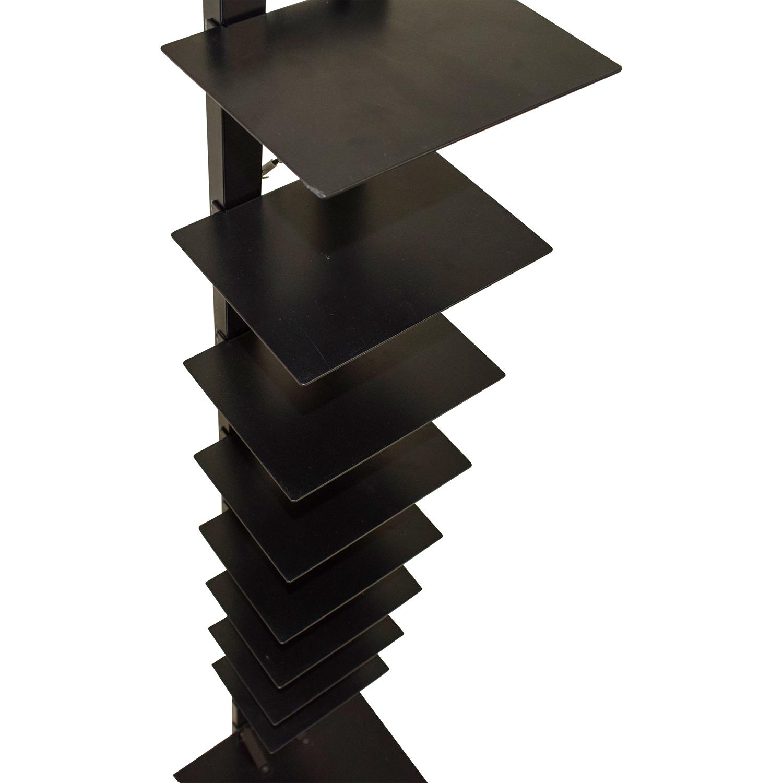 66 Off Modern Open Metal Book Shelf Stand Storage