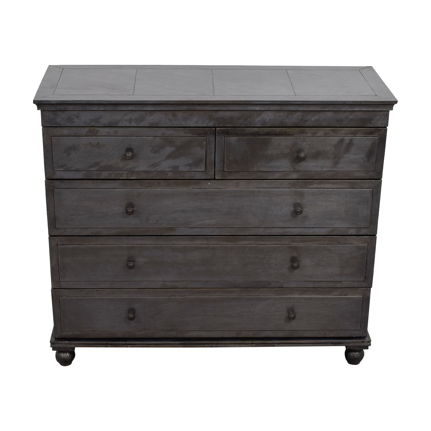 Restoration Hardware Restoration Hardware Zinc Finish Five-Drawer Dresser nyc