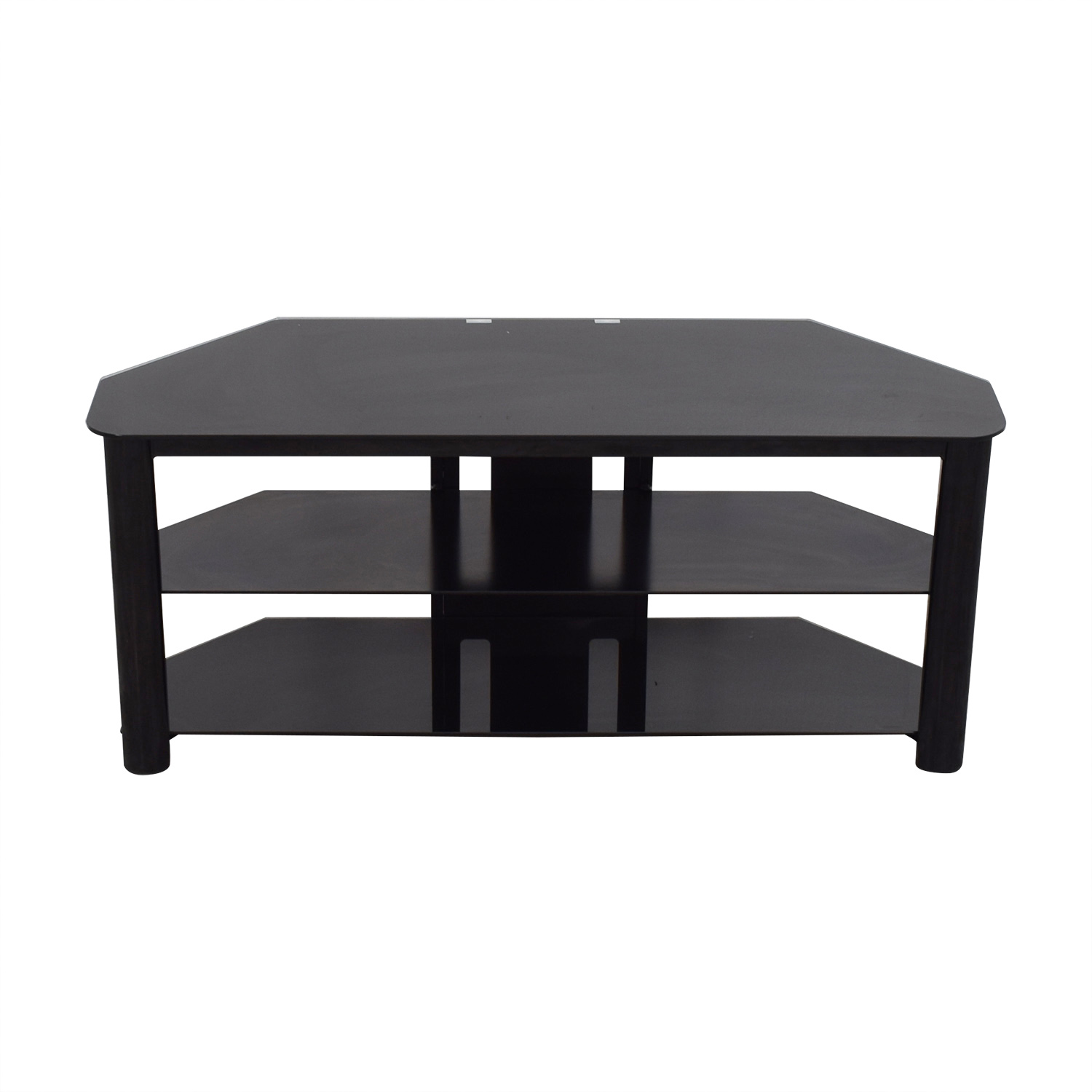 Black Glass TV Console for sale