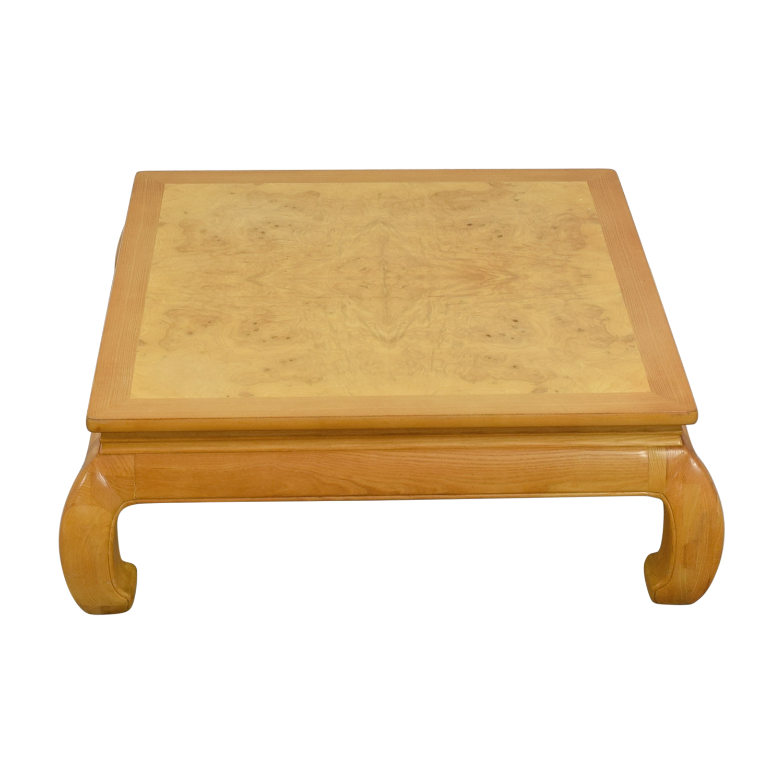 Henredon Henredon Ming Burlwood Top Coffee Table on sale