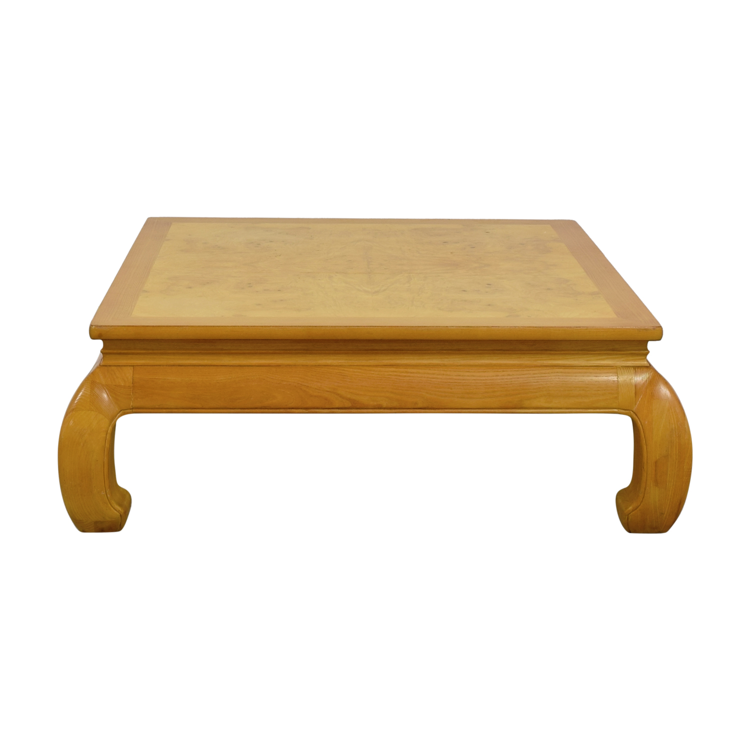 shop Henredon Ming Burlwood Top Coffee Table Henredon Coffee Tables