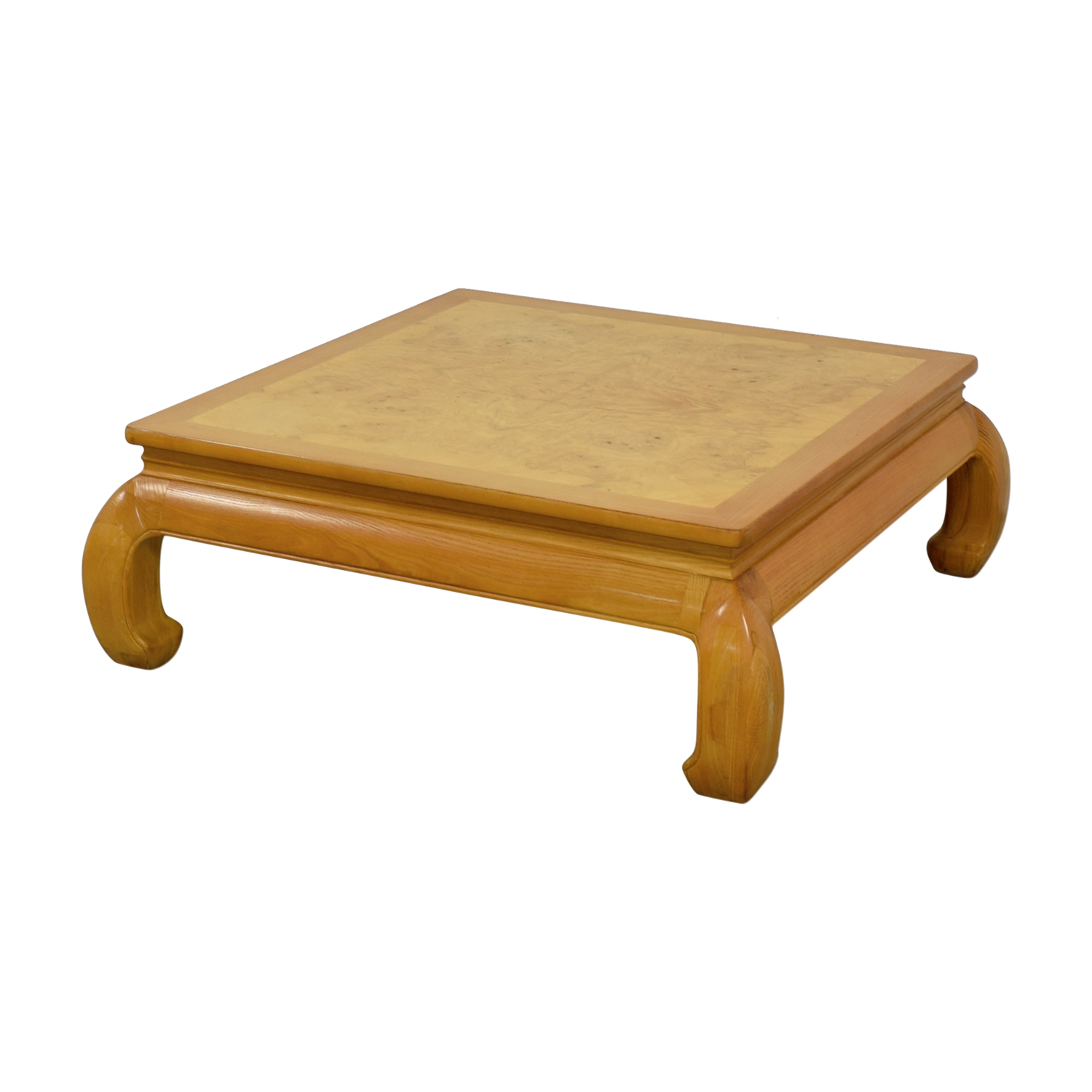 Henredon Ming Burlwood Top Coffee Table Tables
