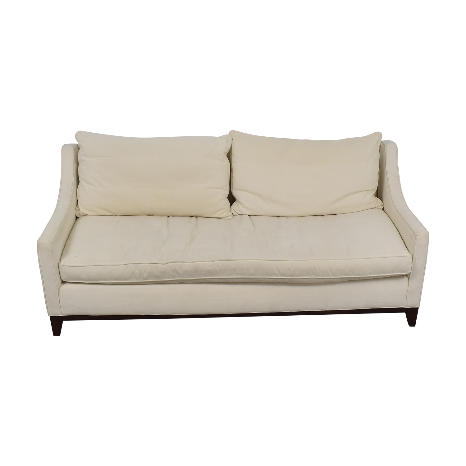 shop Williams Sonoma Presidio White Single Cushion Sofa Williams Sonoma