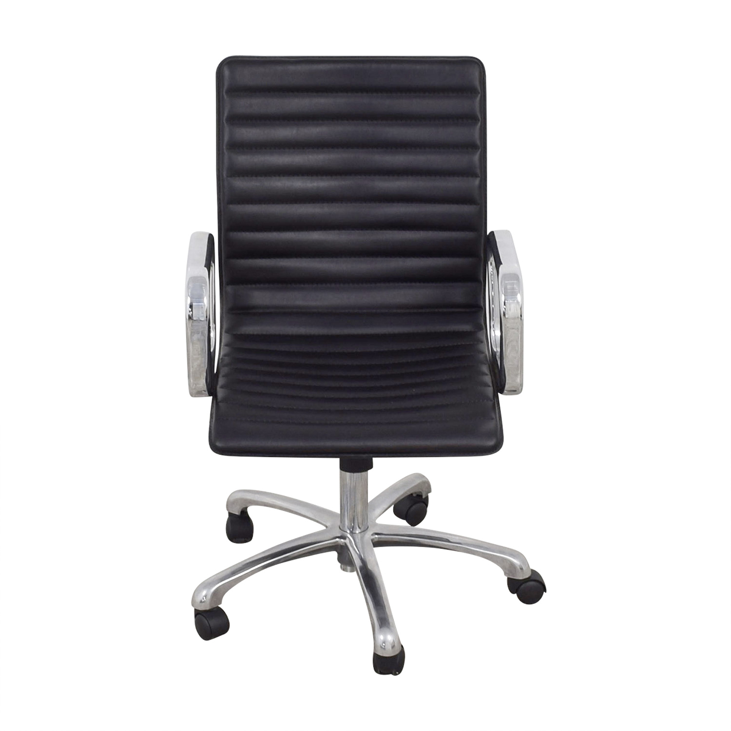 Black Leather Desk Chair used