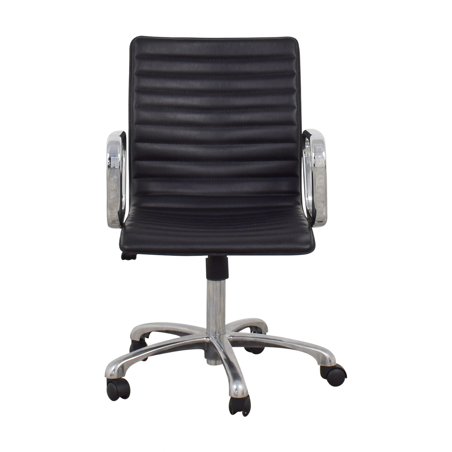 Black Leather Desk Chair coupon