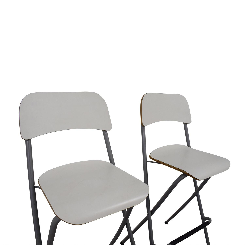 73 Off Ikea Ikea White Bar Stools Chairs