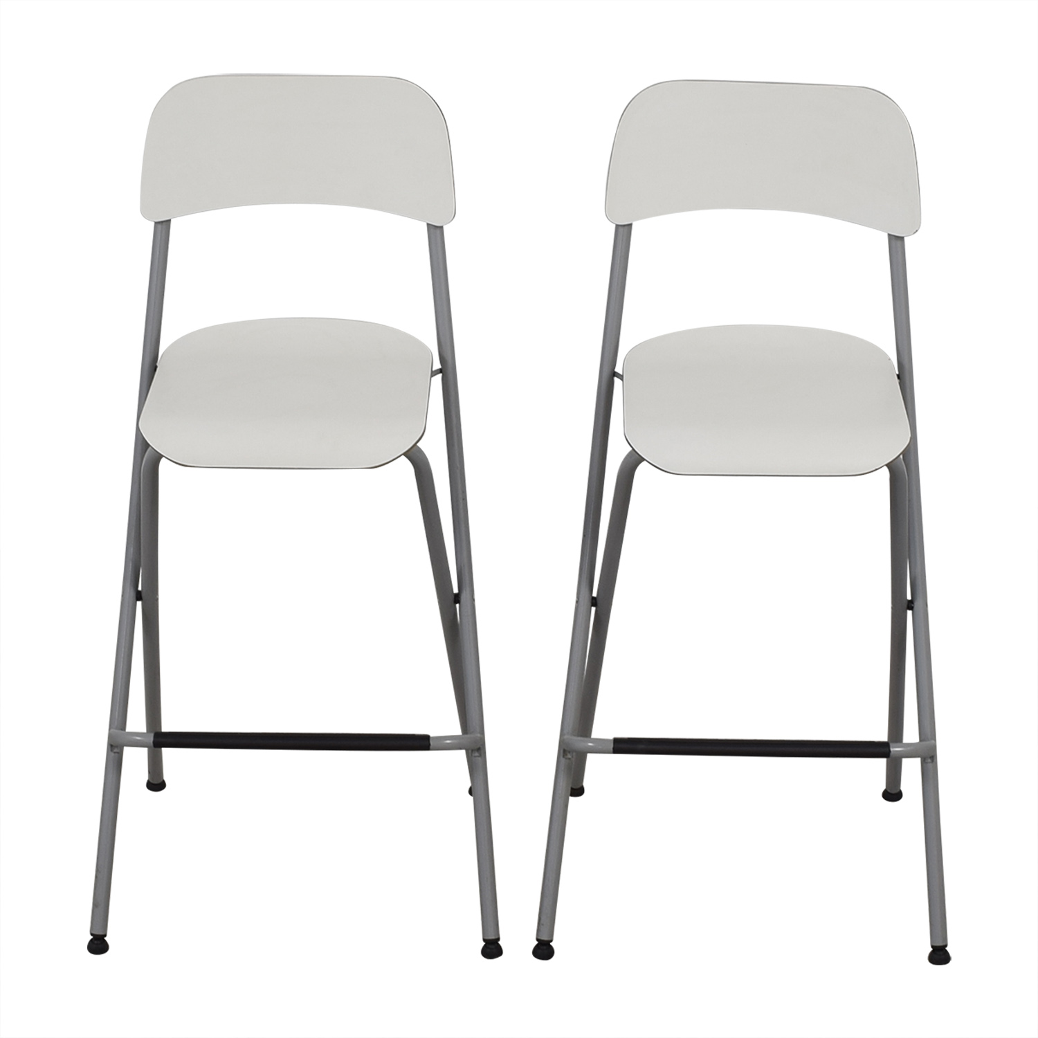 73 off ikea ikea white bar stools chairs. Black Bedroom Furniture Sets. Home Design Ideas