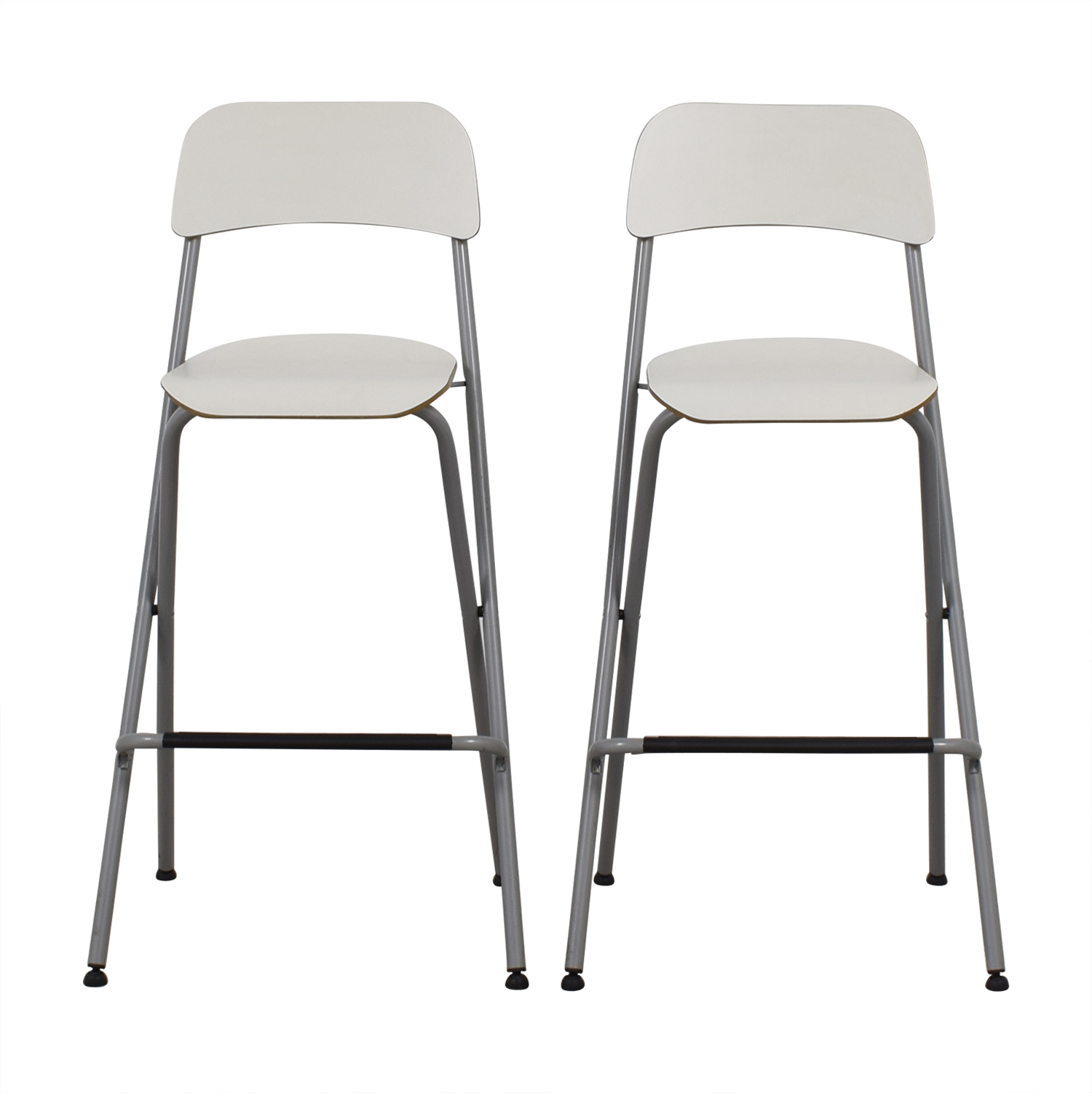 73 Off Ikea Ikea White Bar Stools Chairs
