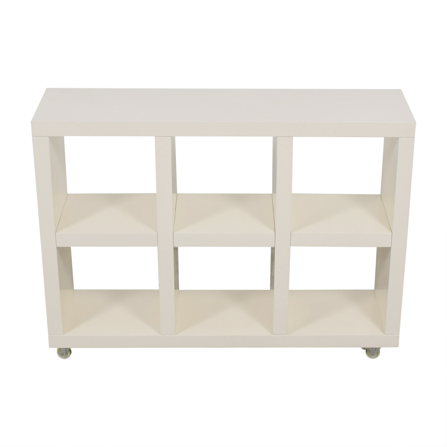 West Elm West Elm White Bookcase on Casters nj