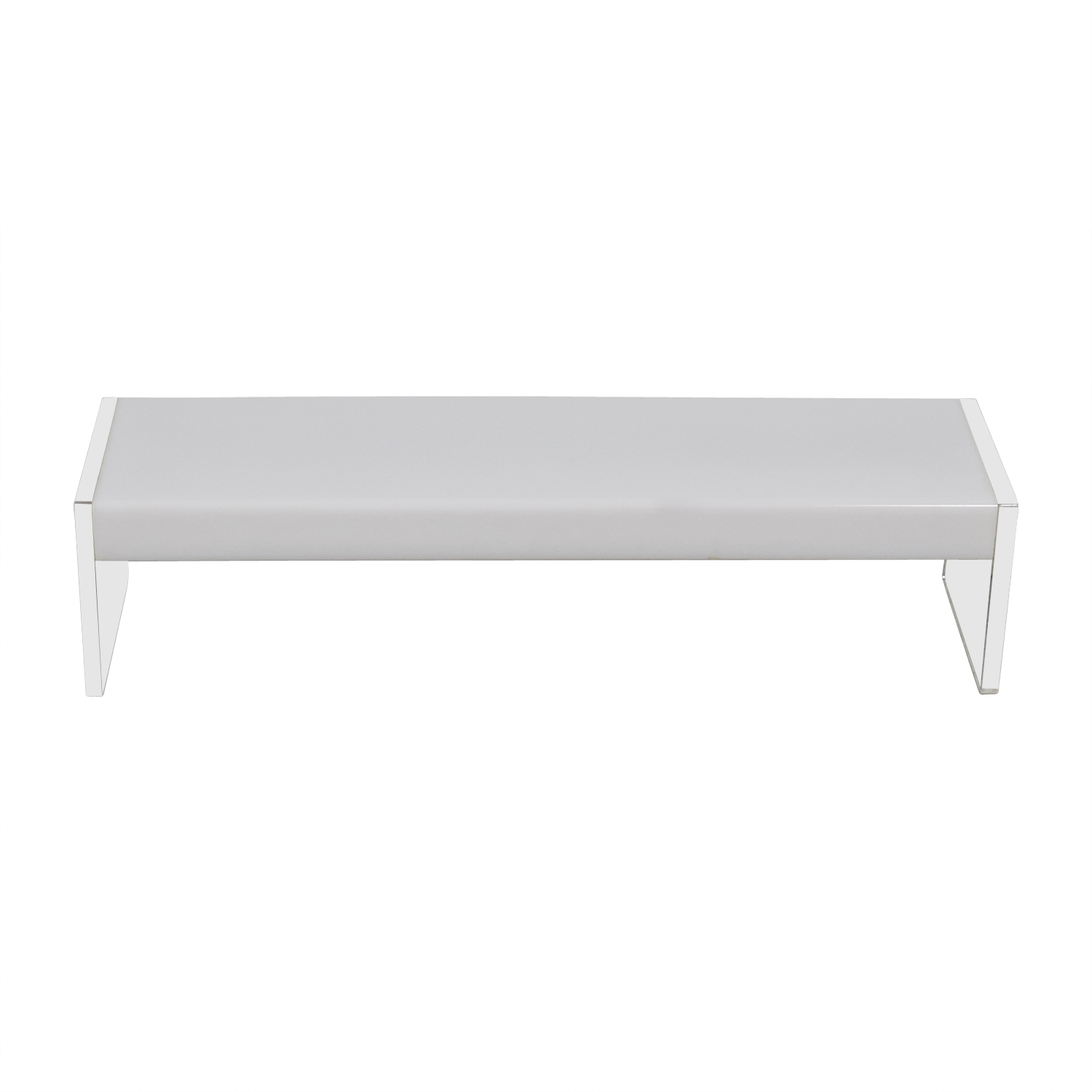 Light Up White & Ghost Coffee Table for sale