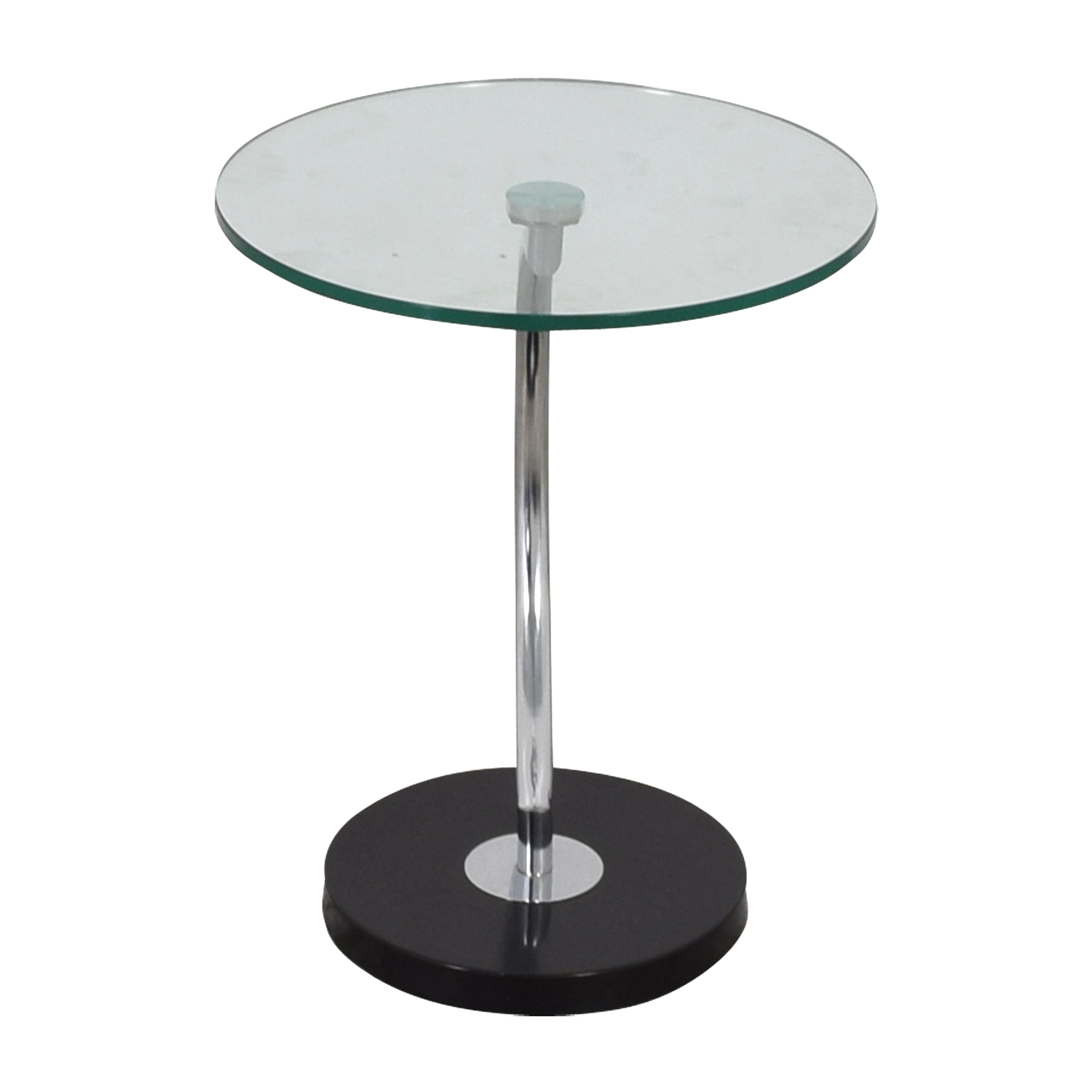 Round Glass Top End Table on sale