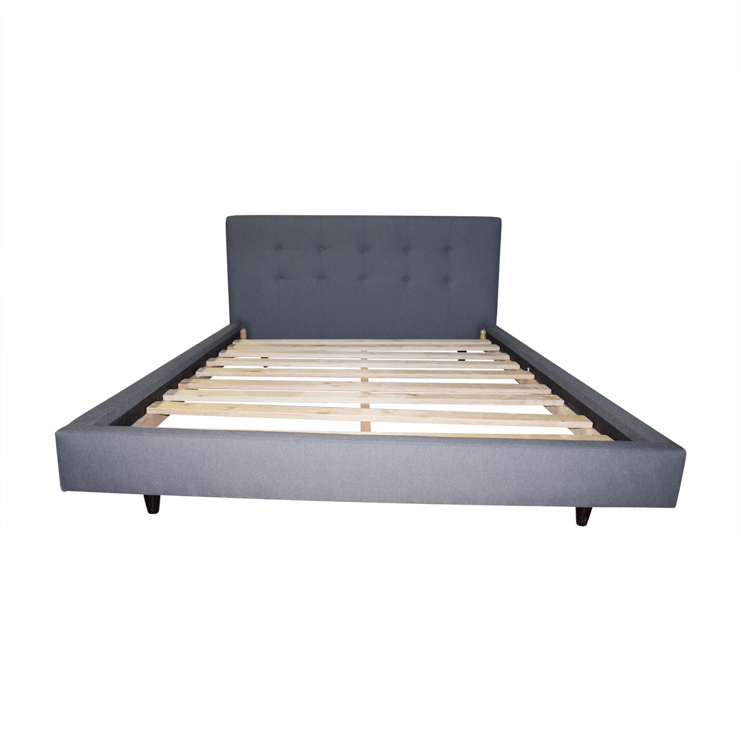 Crate & Barrel Tate Upholstered Queen Bed sale