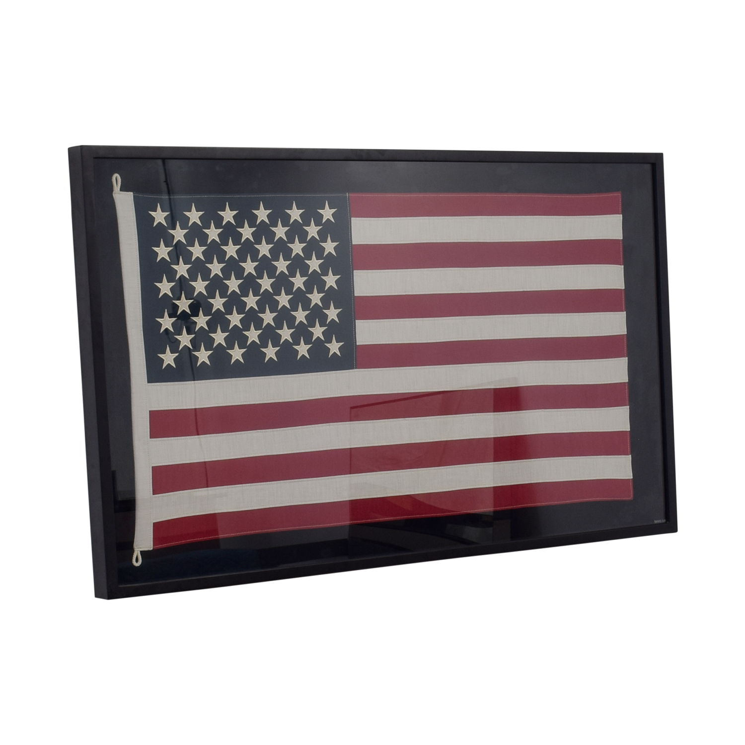 Restoration Hardware Restoration Hardware USA Framed Flag used