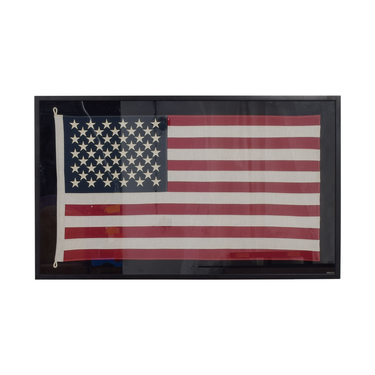 Restoration Hardware Restoration Hardware USA Framed Flag nj