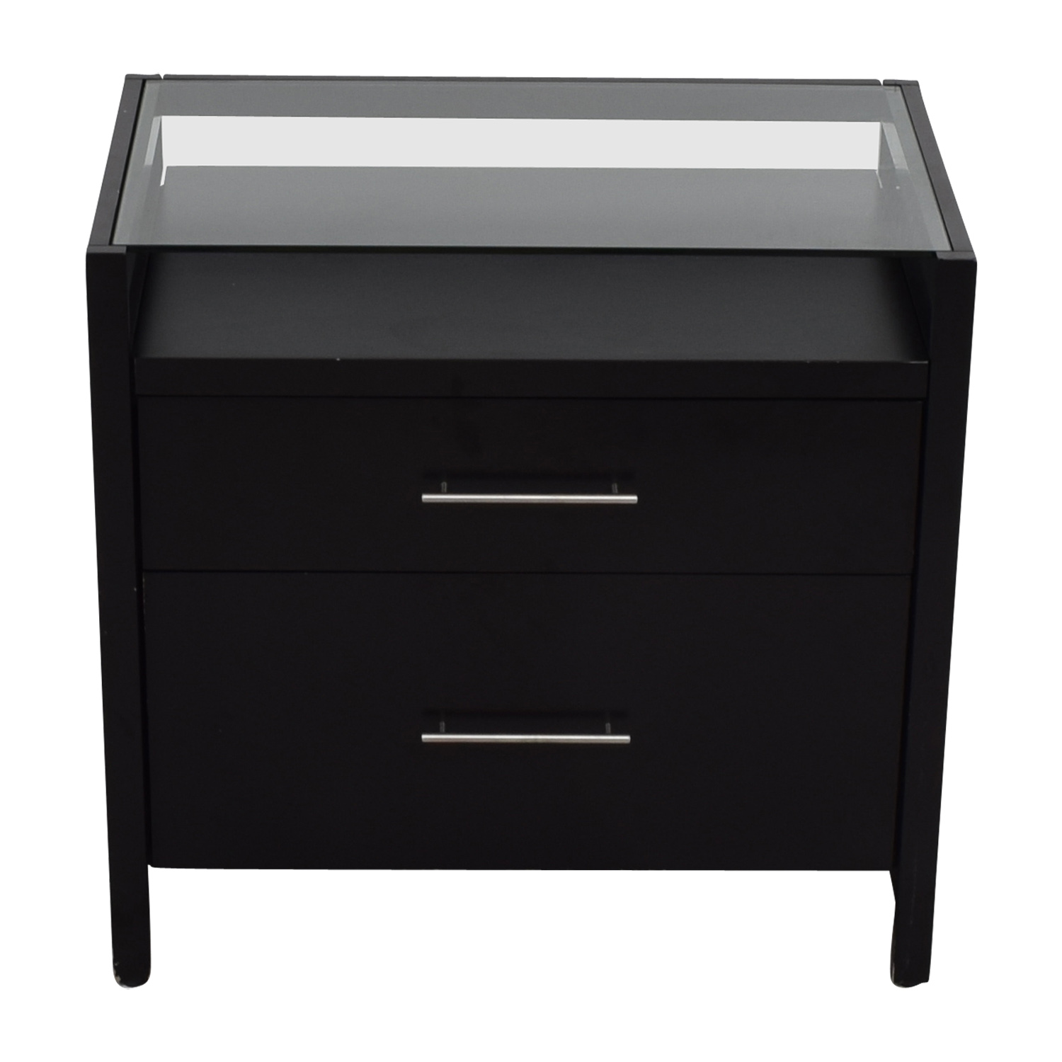 Crate & Barrel Crate & Barrel Two-Drawer Black Night Table End Tables