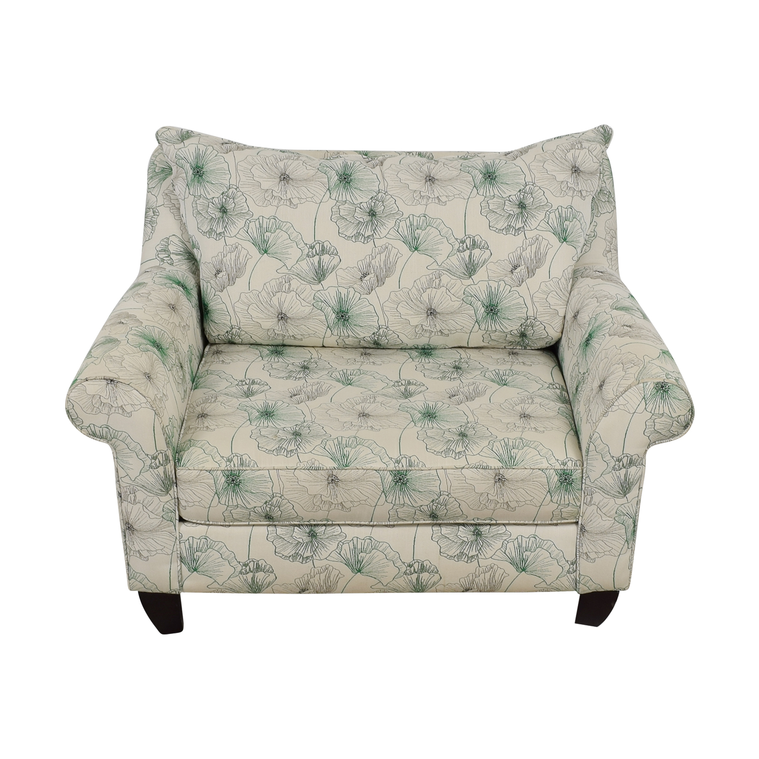 American Signature American Signature White and Green Floral  Loveseat discount