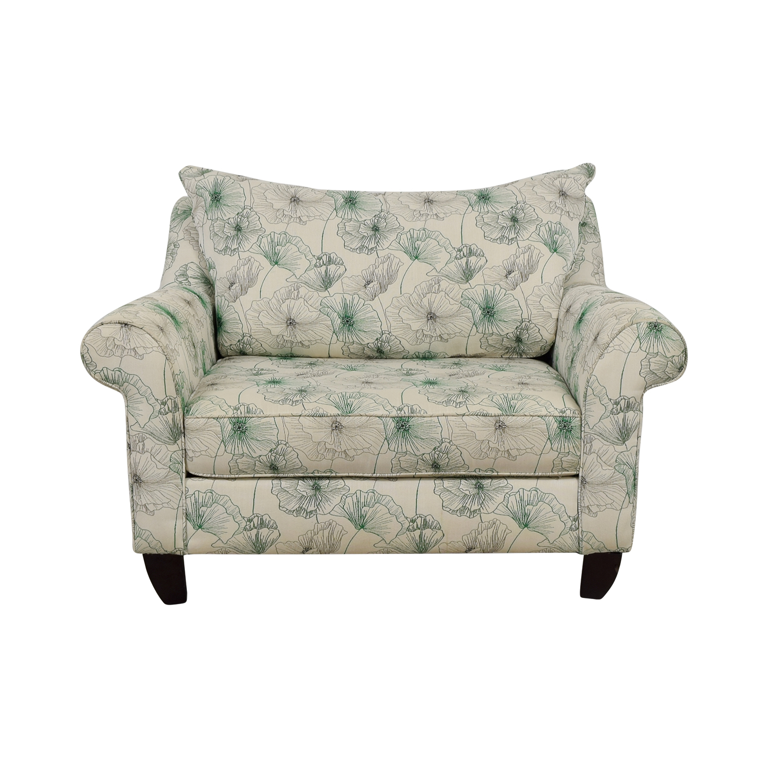 Awe Inspiring 74 Off American Signature American Signature White And Green Floral Loveseat Sofas Machost Co Dining Chair Design Ideas Machostcouk