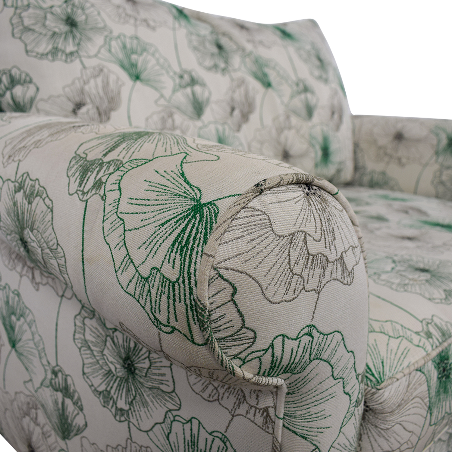 American Signature American Signature White and Green Floral  Loveseat dimensions