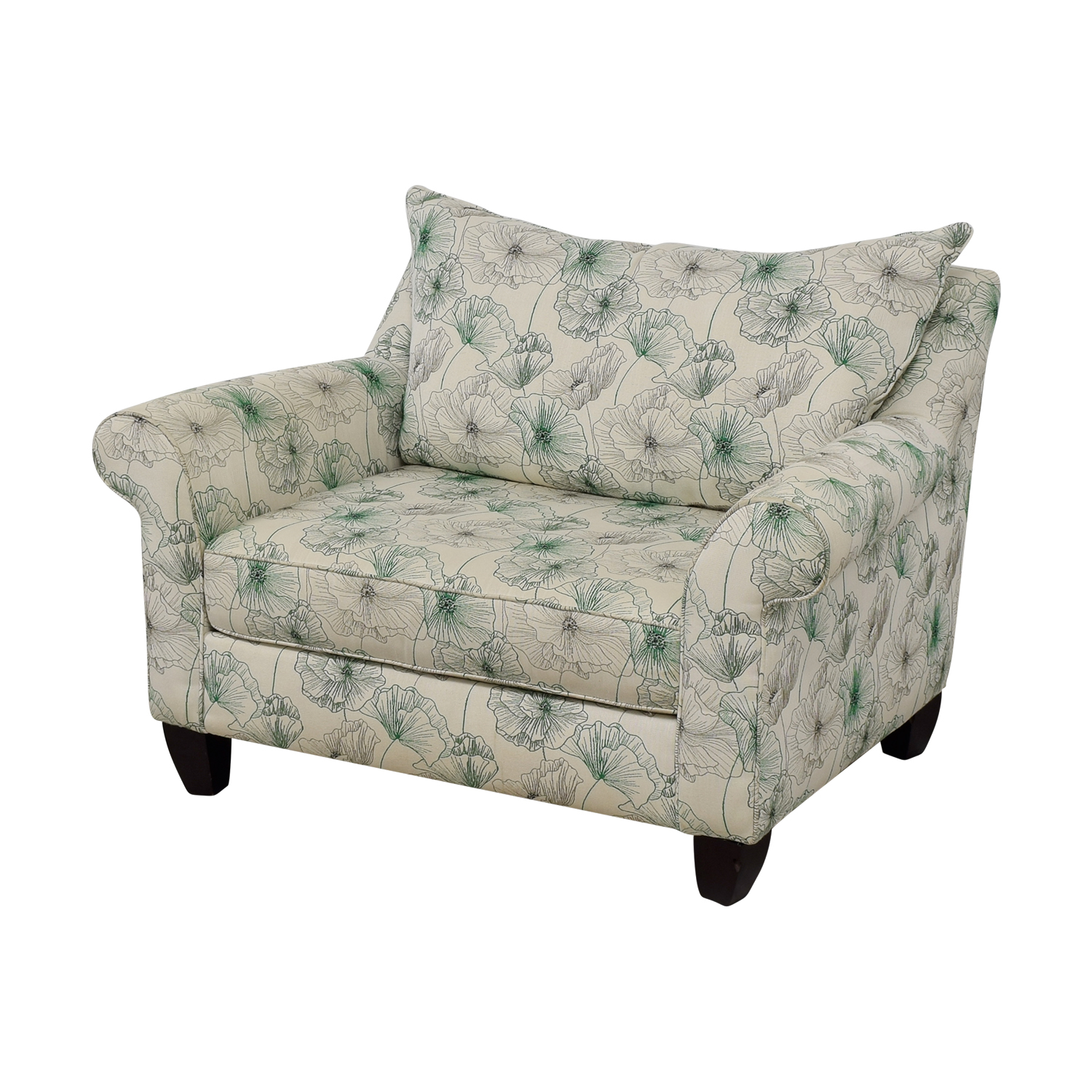 Fine 74 Off American Signature American Signature White And Green Floral Loveseat Sofas Machost Co Dining Chair Design Ideas Machostcouk