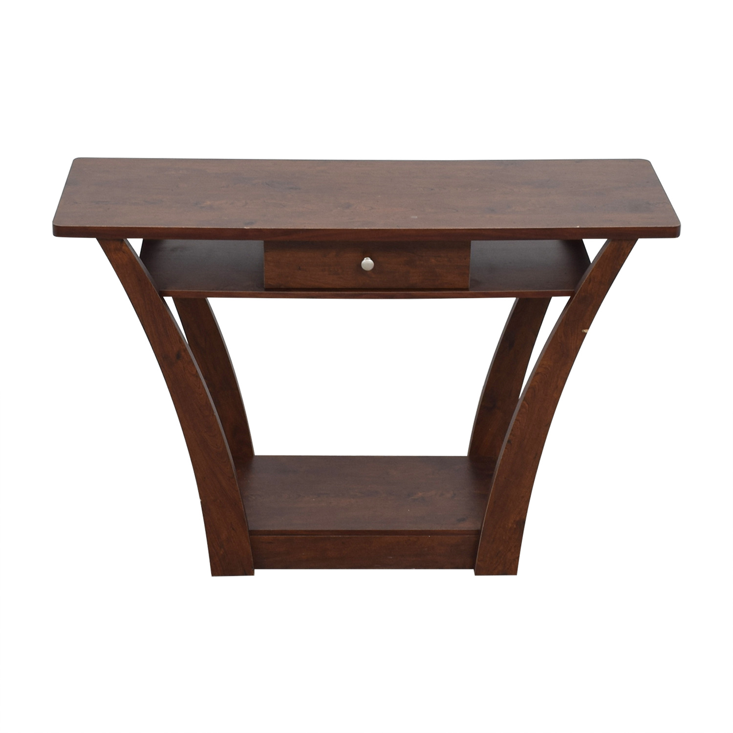 shop Wayfair Wayfair Wood Single Drawer Console Table online