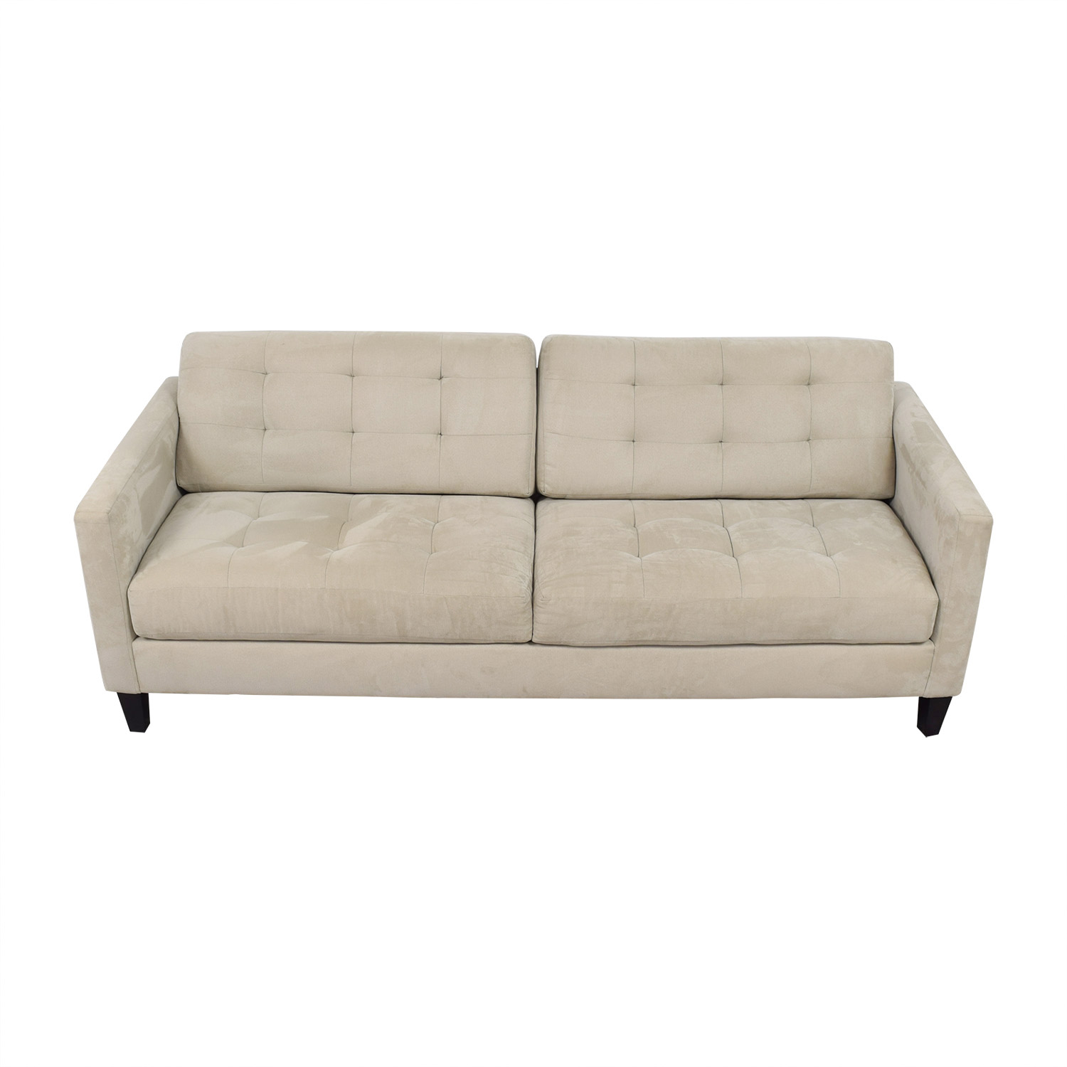 buy Macy's Beige Tufted Two Cushion Sofa Macy's Sofas