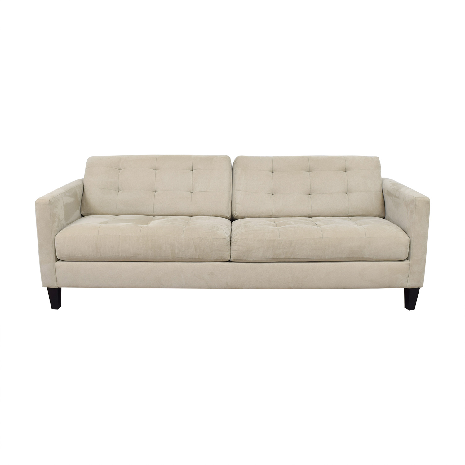 Macy's Macy's Beige Tufted Two Cushion Sofa nj