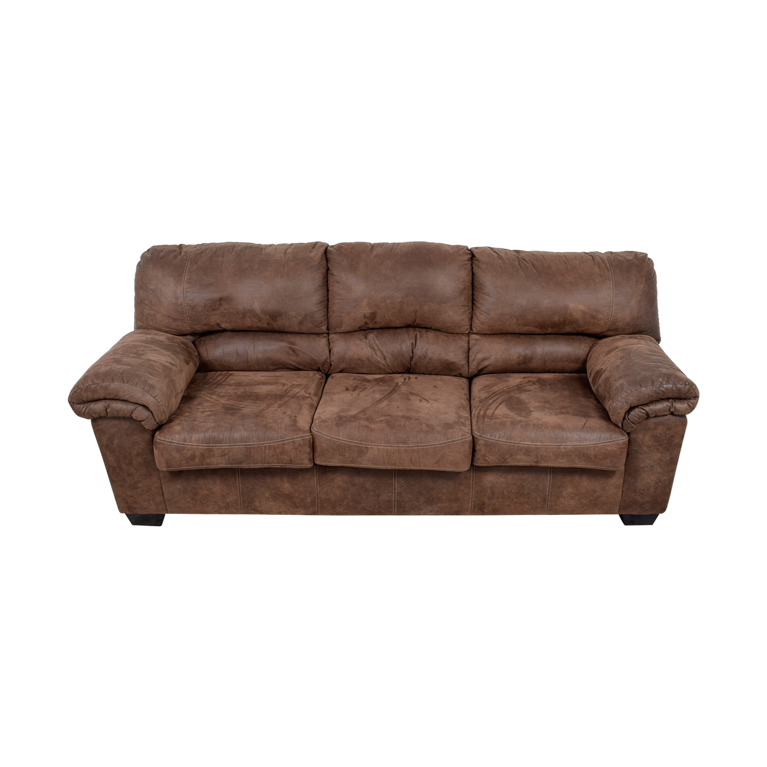 Ashley's Furniture Three-Cushion Brown Sofa discount