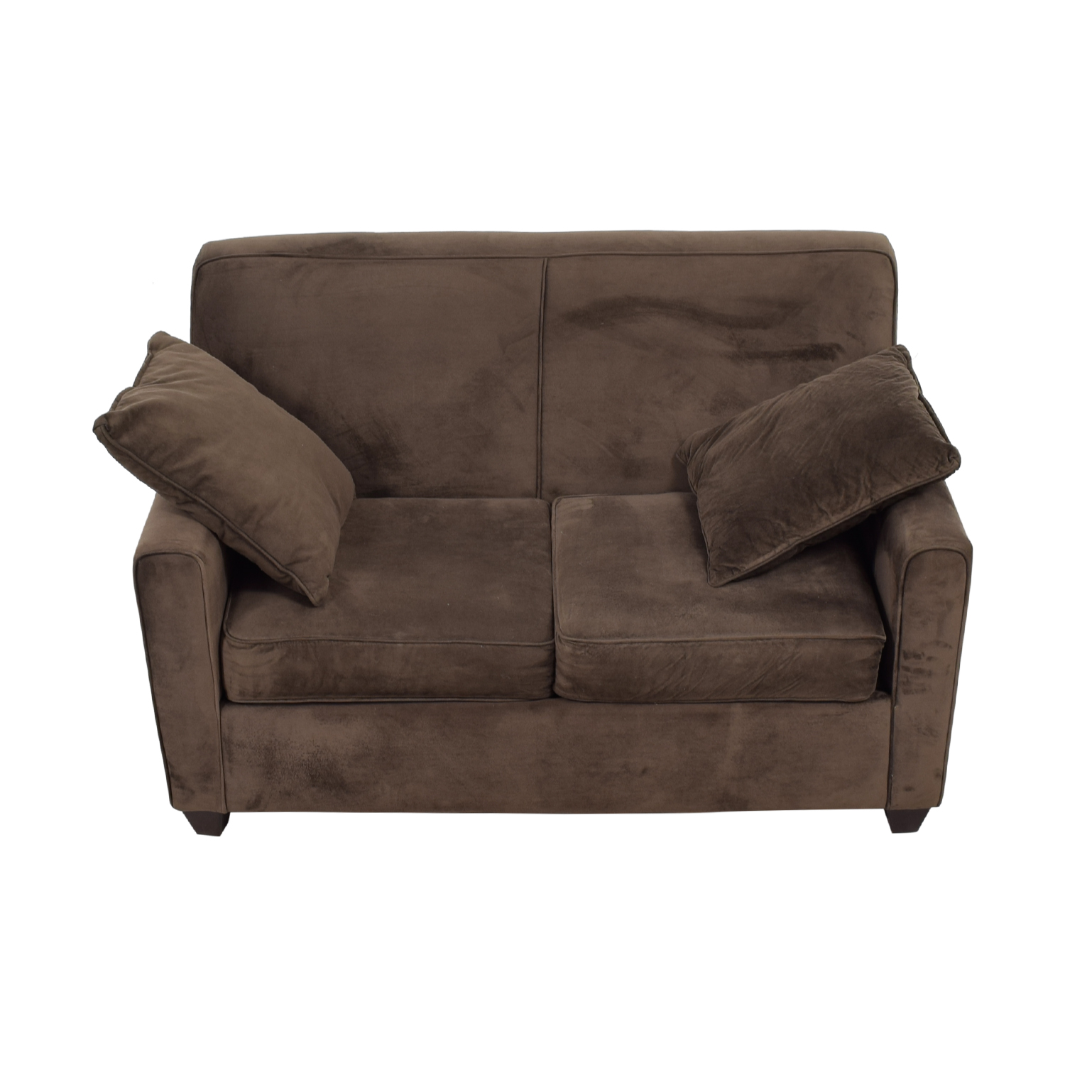 Furniture Brown Faux Suede Loveseat
