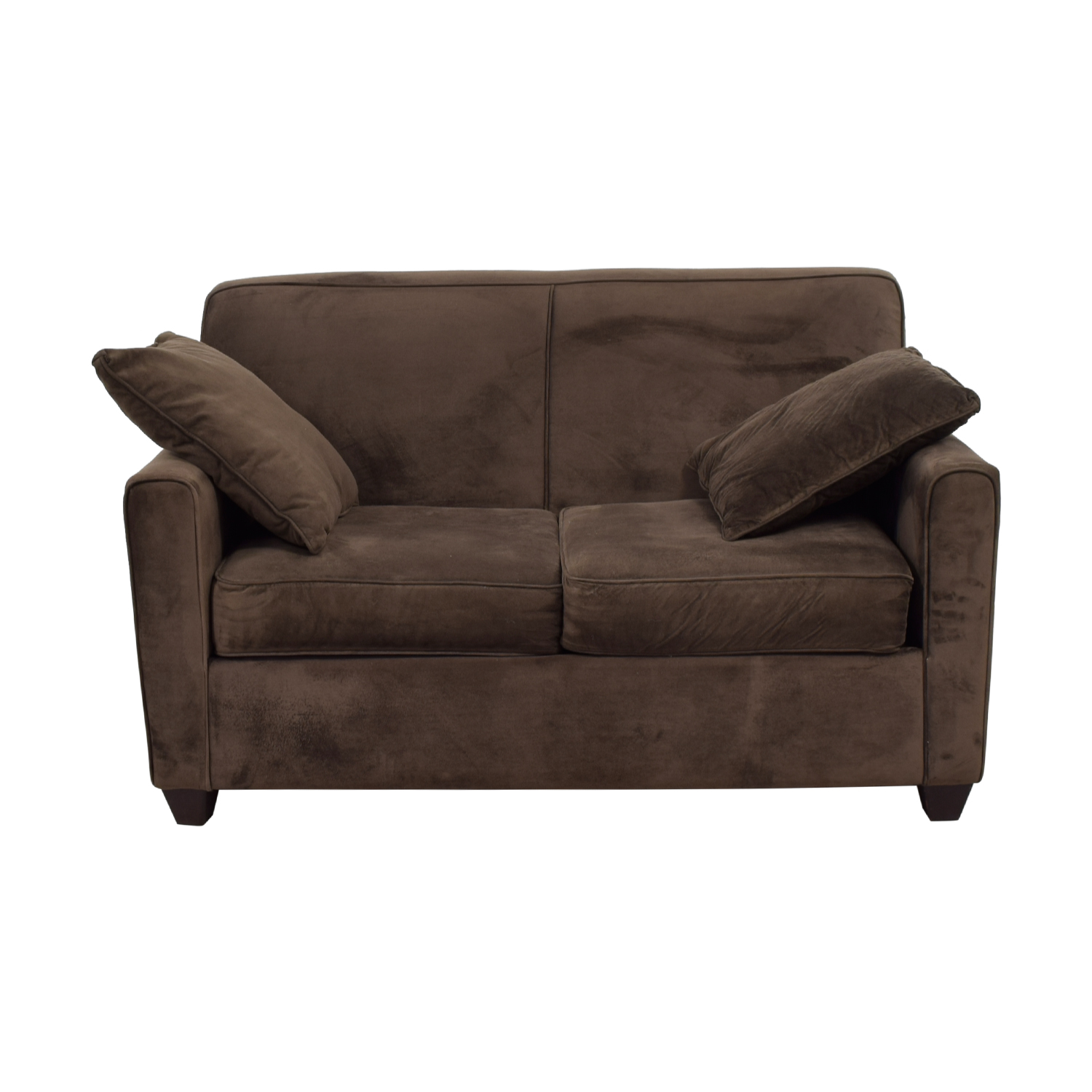 Ashley's Furniture Brown Faux Suede Loveseat / Sofas