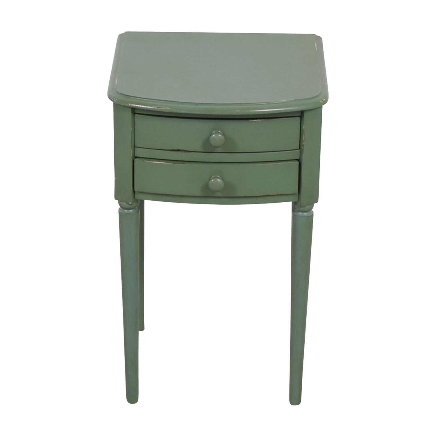 West Elm West Elm Teal Two-Drawer  Nightstand nyc