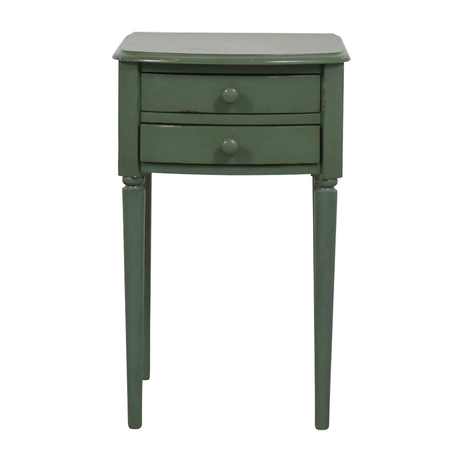 buy West Elm Teal Two-Drawer  Nightstand West Elm Tables