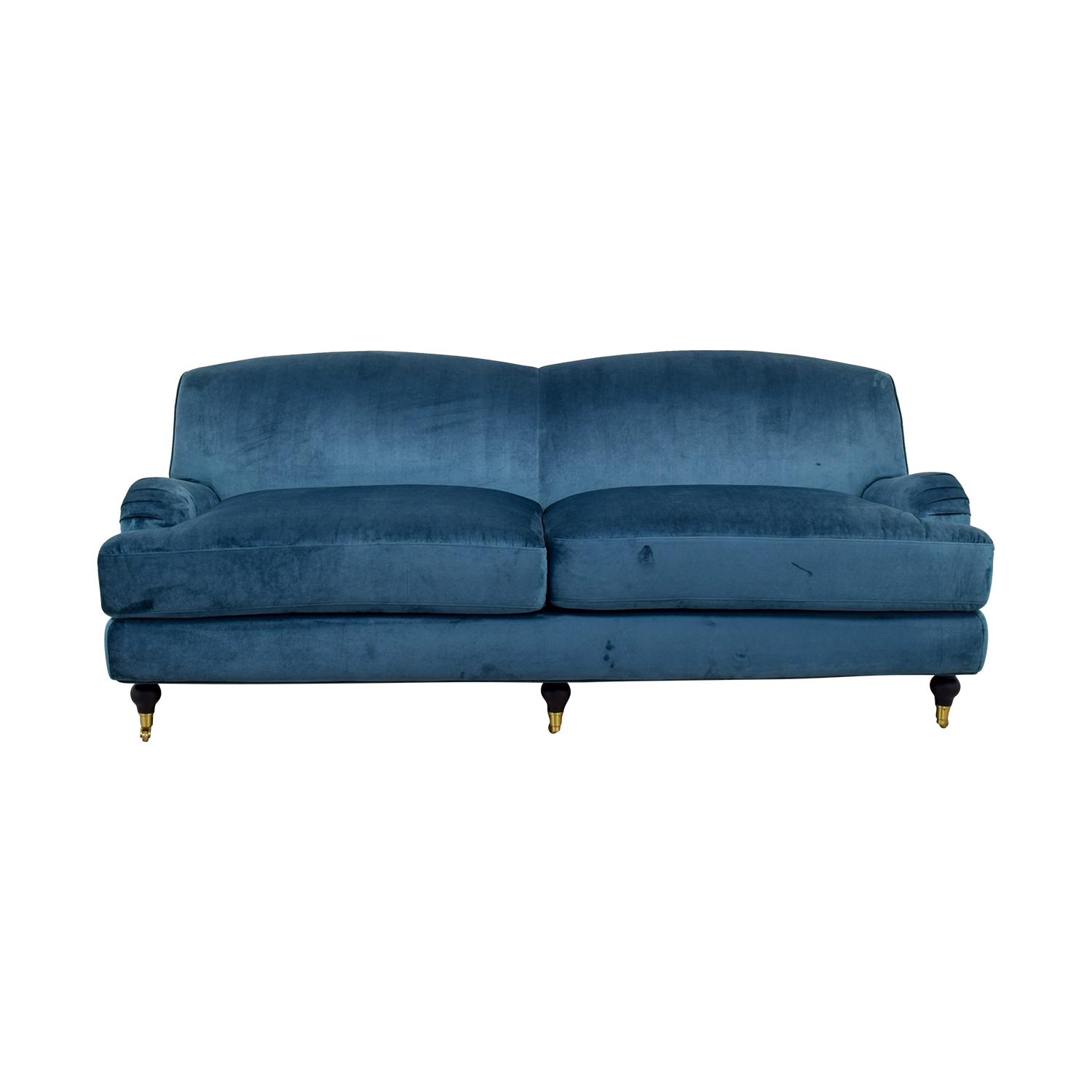 buy Rose Blue Velvet Two-Cushion Sofa  Classic Sofas