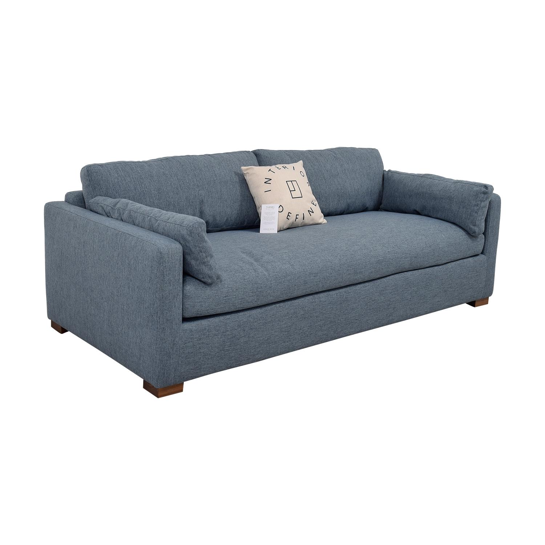 ... Charly Blue Single Cushion Sofa Coupon ...