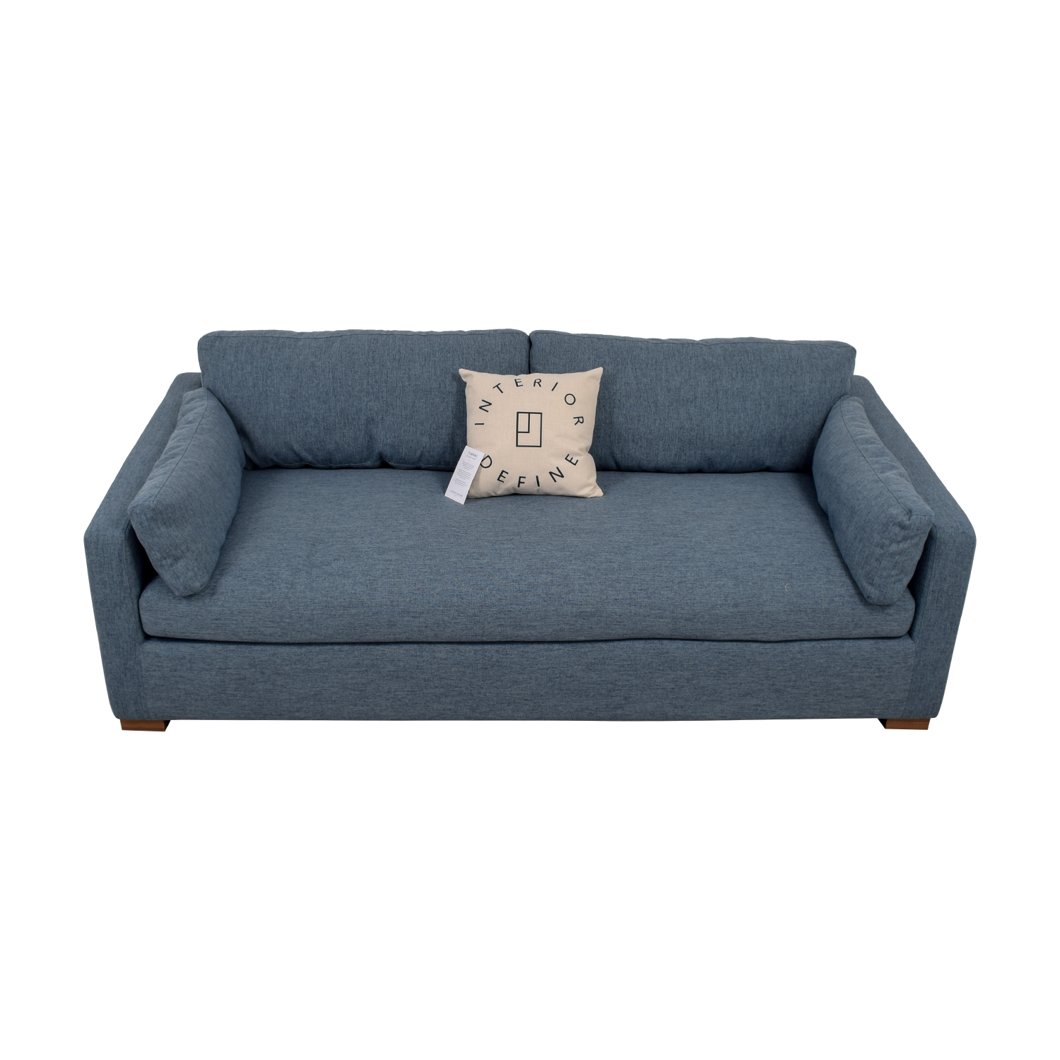 Charly Blue Single Cushion Sofa on sale