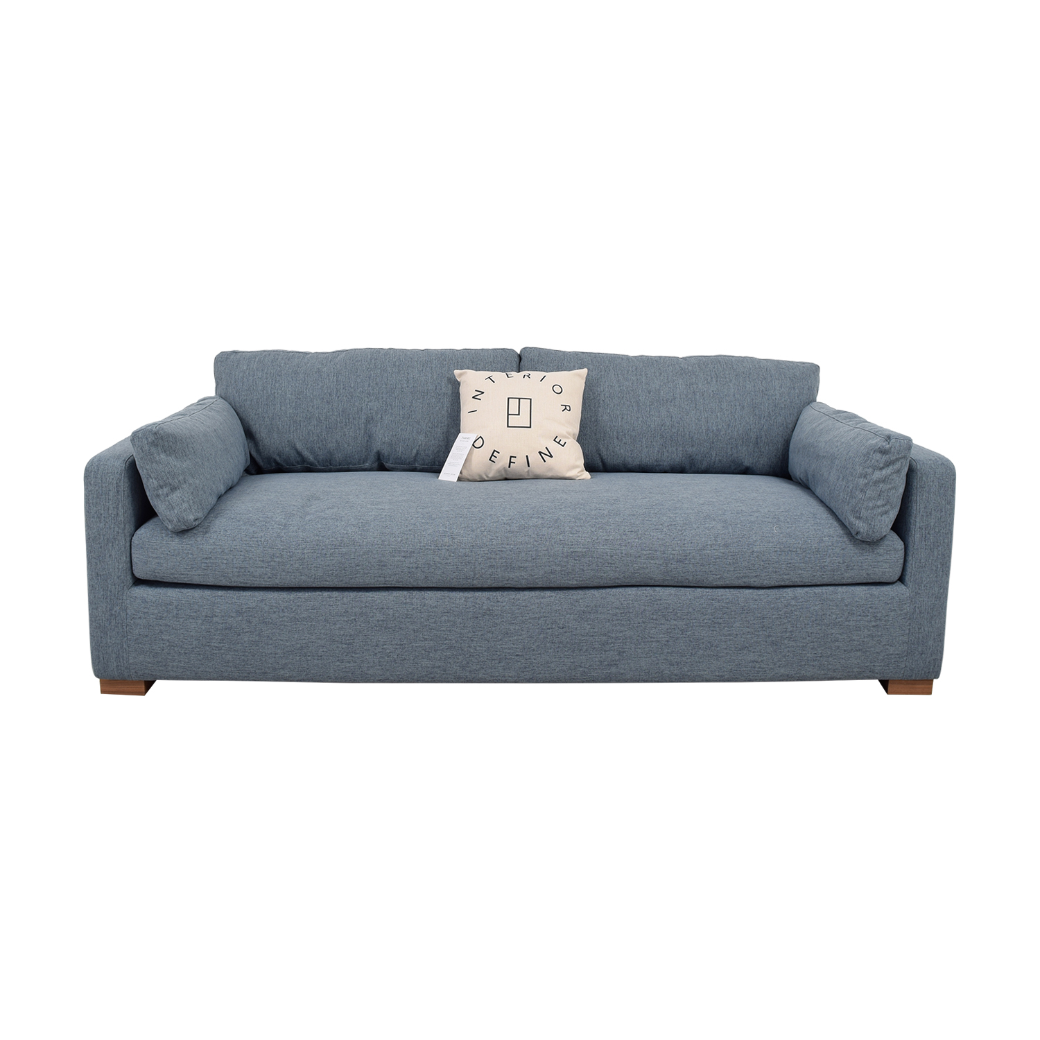 buy Charly Blue Single Cushion Sofa