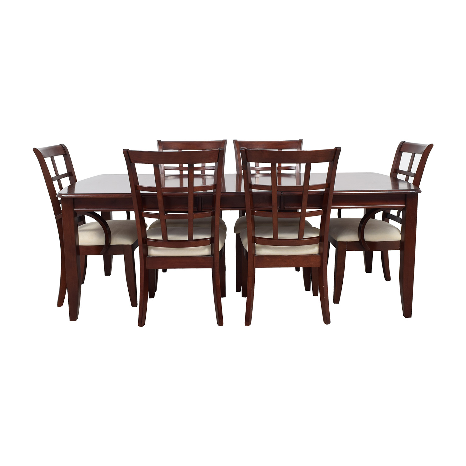 Klaussner International Extendable Leaf Wood Dining Set Klaussner International