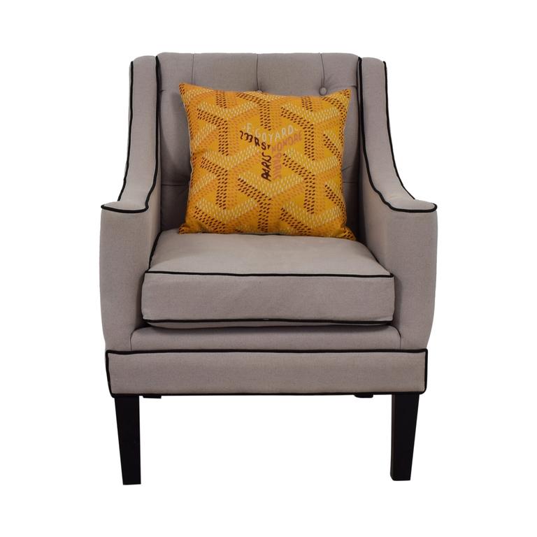 Safavieh Safavieh Down Filled Sherman Beige Arm Chair coupon