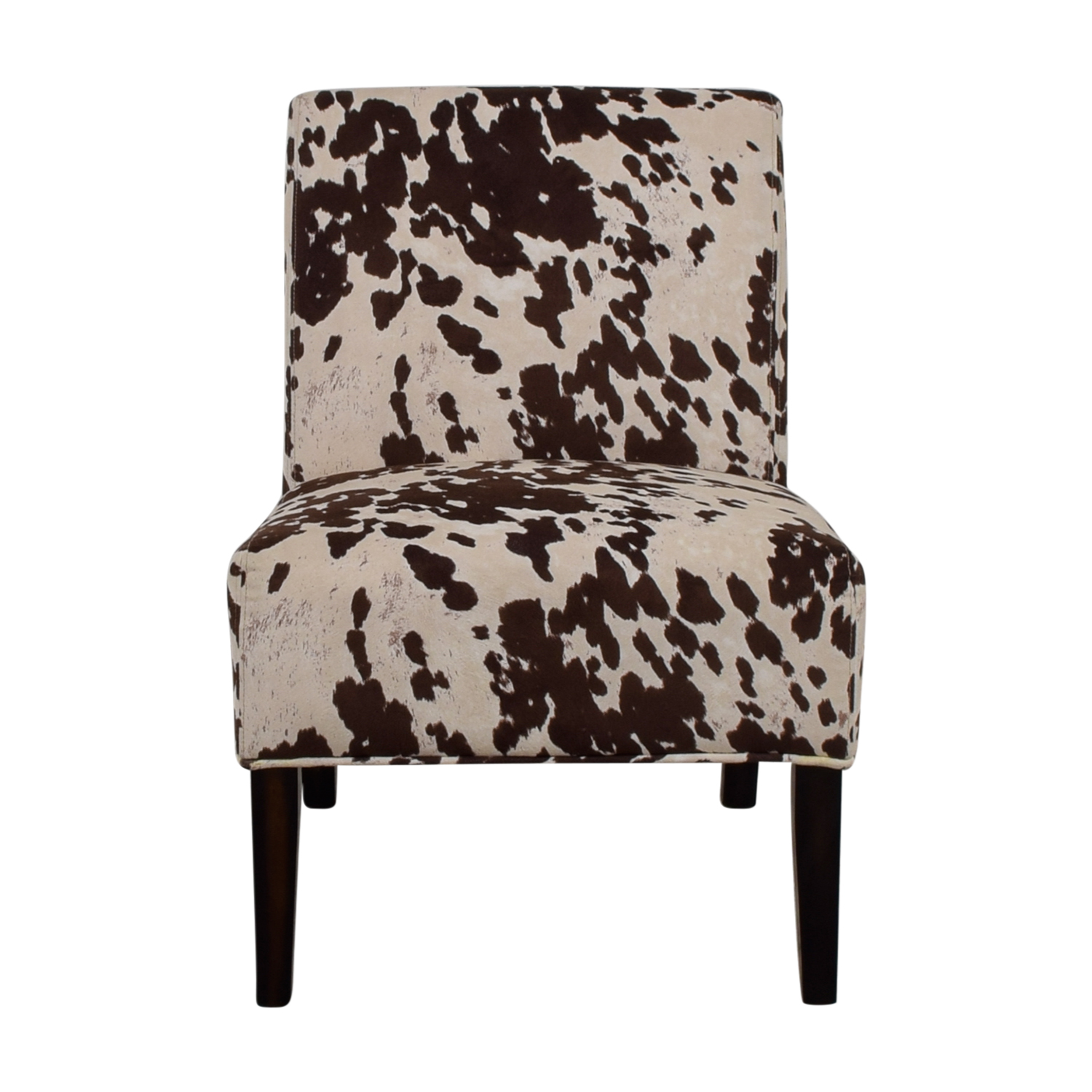 Buy Inspire Brown And Cream Faux Cow Hide Fabric Accent Chair Inspire Chairs  ...