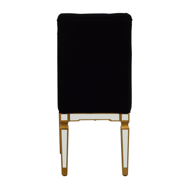 Elegant Lighting Elegant Lighting Florentine Black and Mirrored Chair price