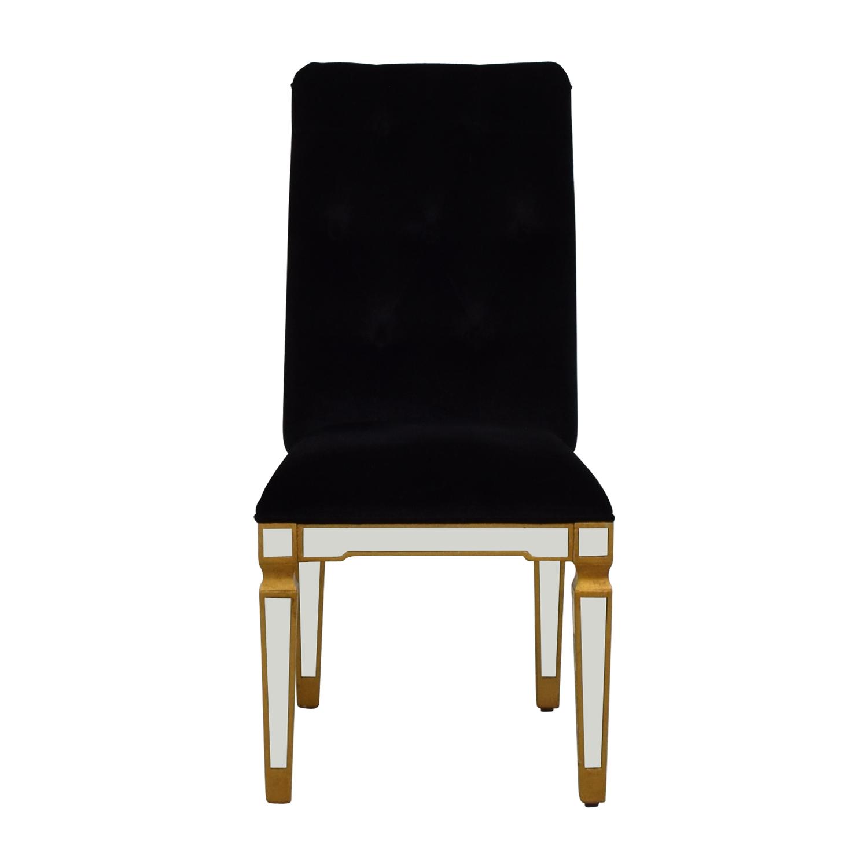 Elegant Lighting Elegant Lighting Florentine Black and Mirrored Chair on sale