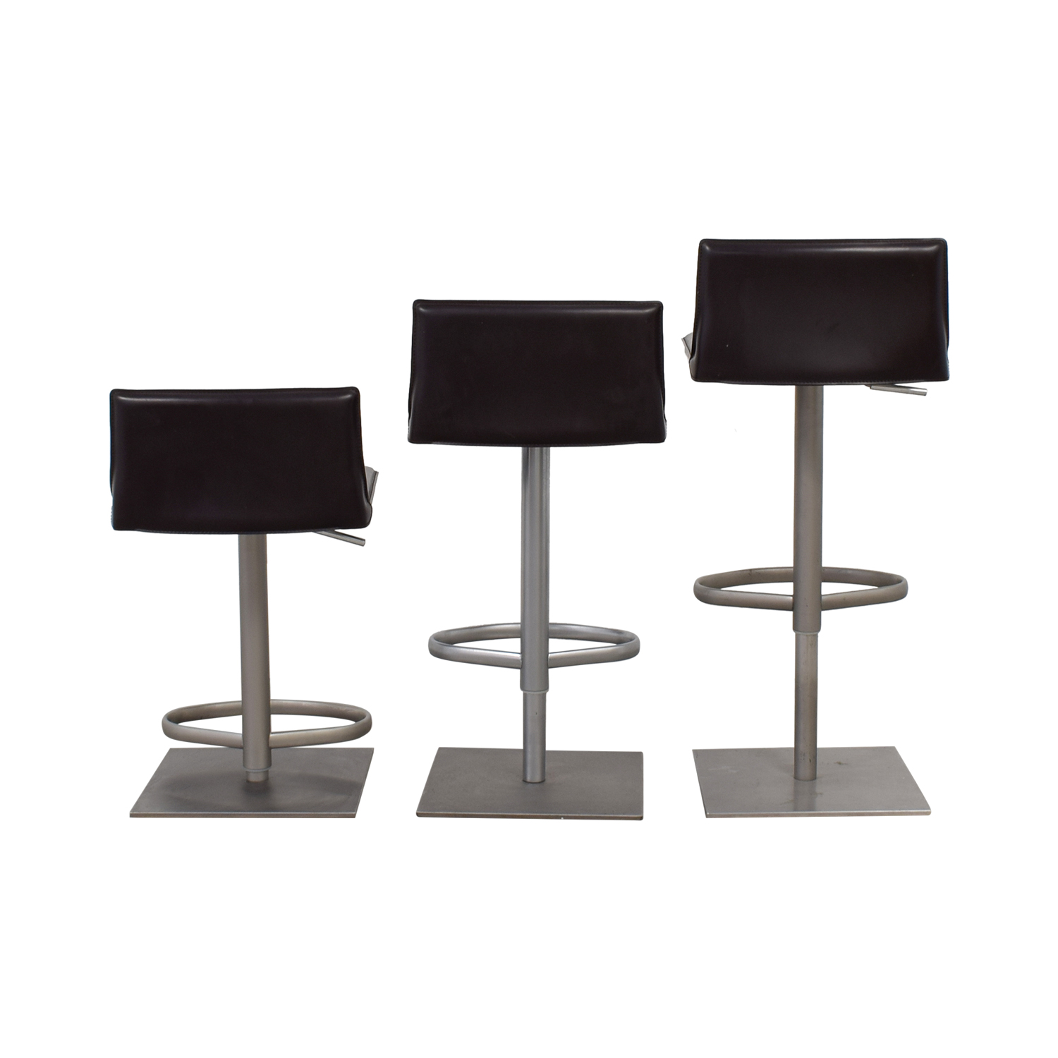 Design Within Reach Design Within Reach Bottega Adjustable Brown Bar Stools second hand