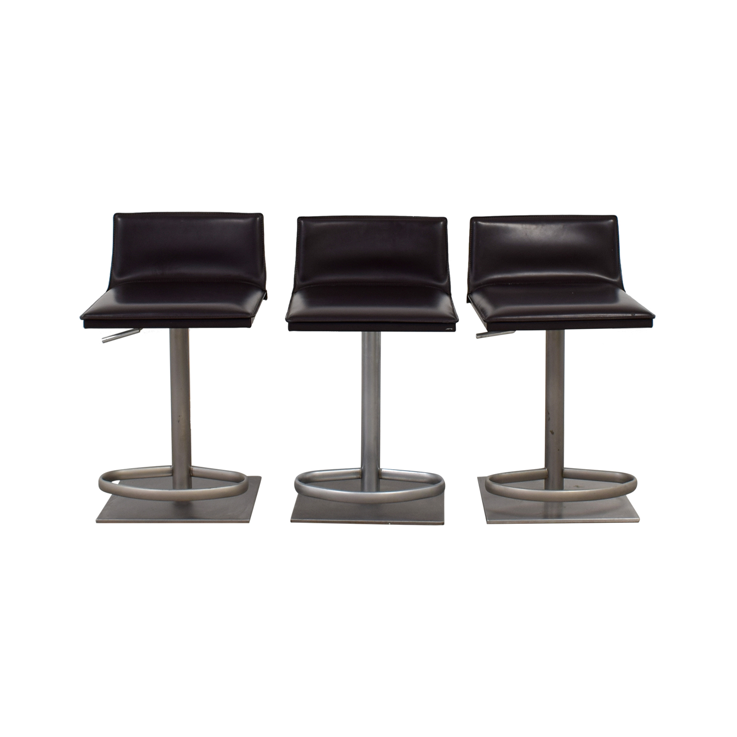 Design Within Reach Design Within Reach Bottega Adjustable Brown Bar Stools used