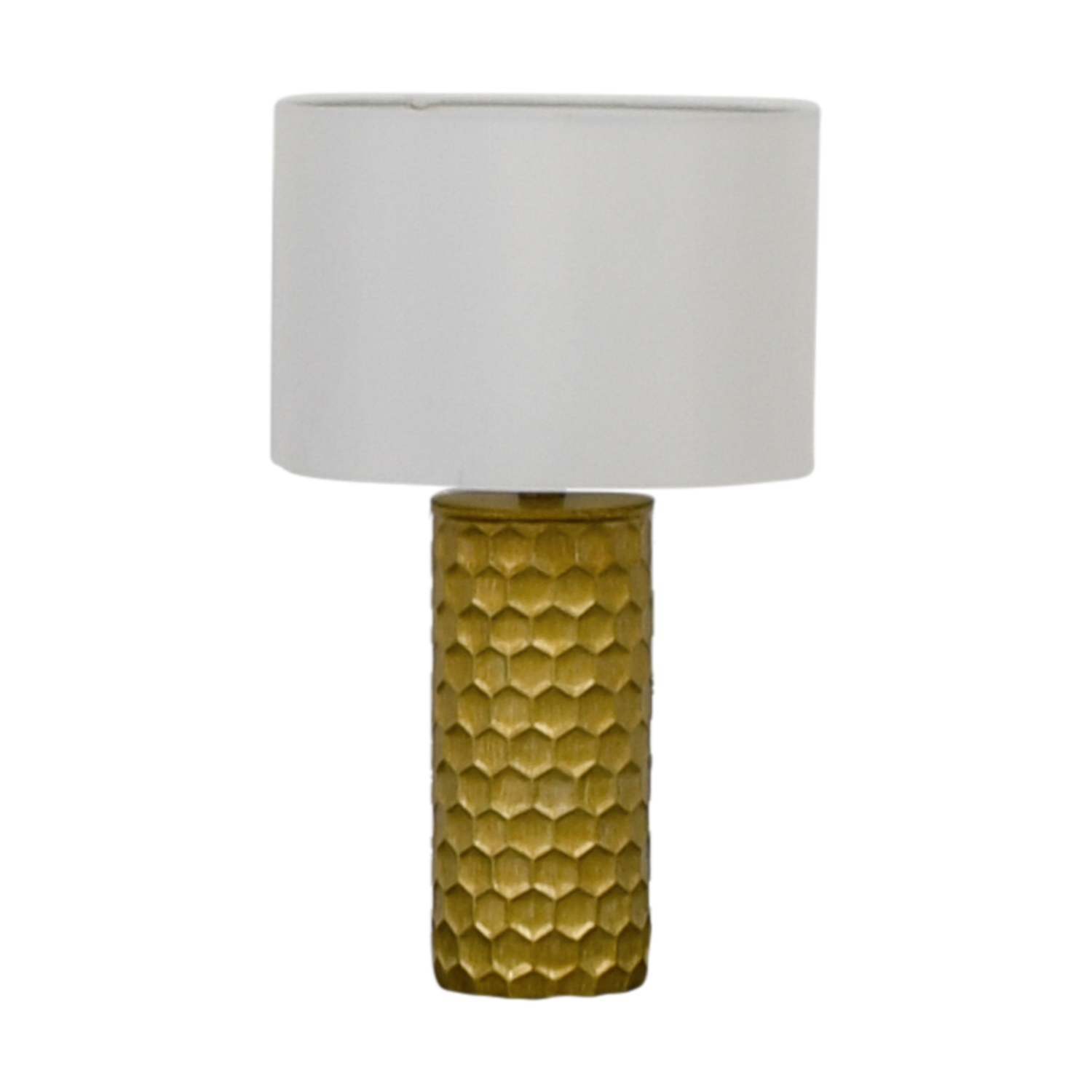 Honeycomb Gold Lamp Decor