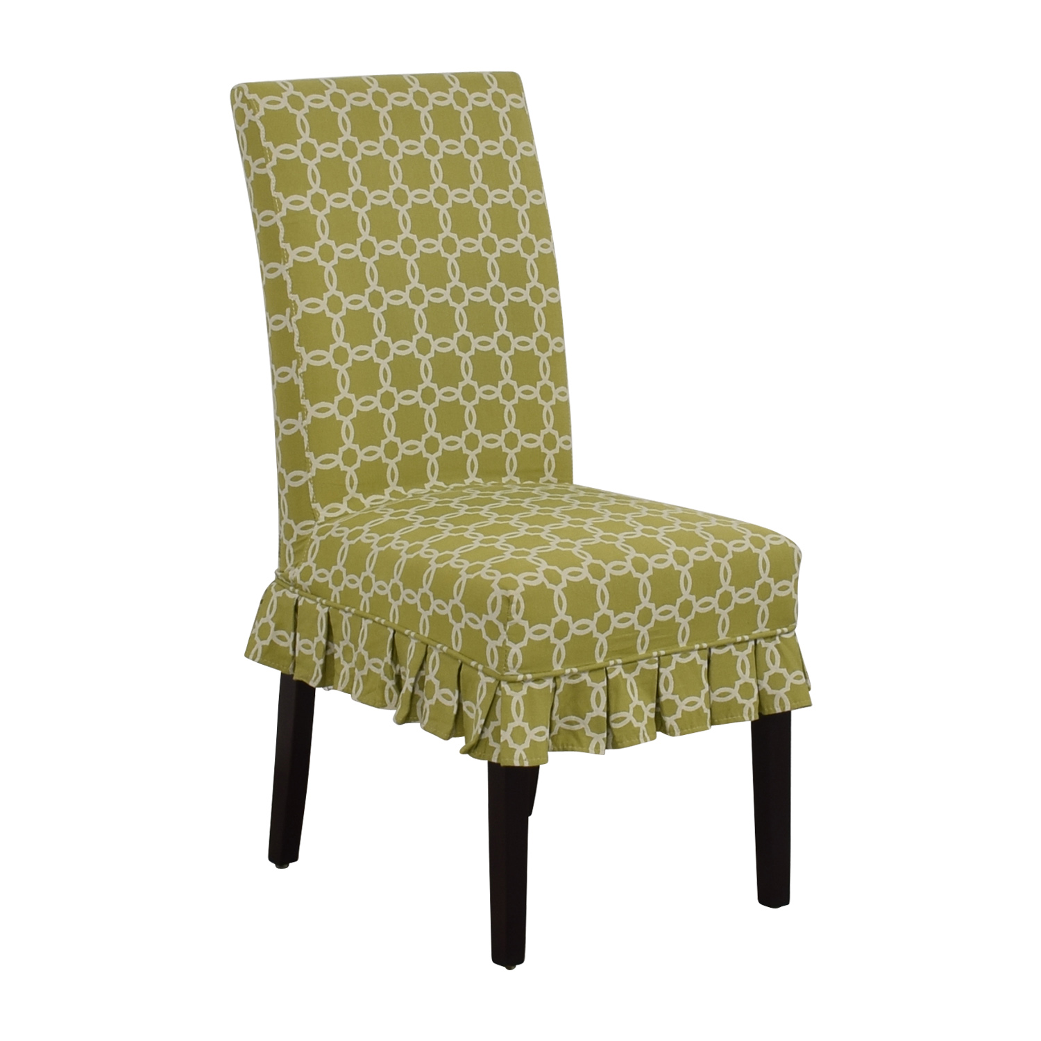 90% OFF - Pier 1 Pier 1 Green Accent Chair / Chairs
