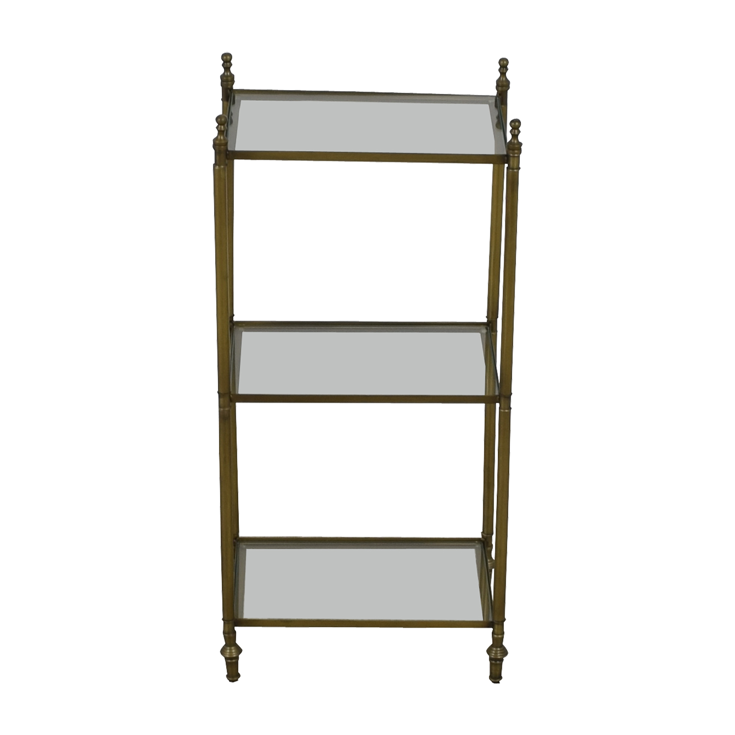 48 Off One Kings Lane One Kings Lane Glass And Brass Shelf Tables